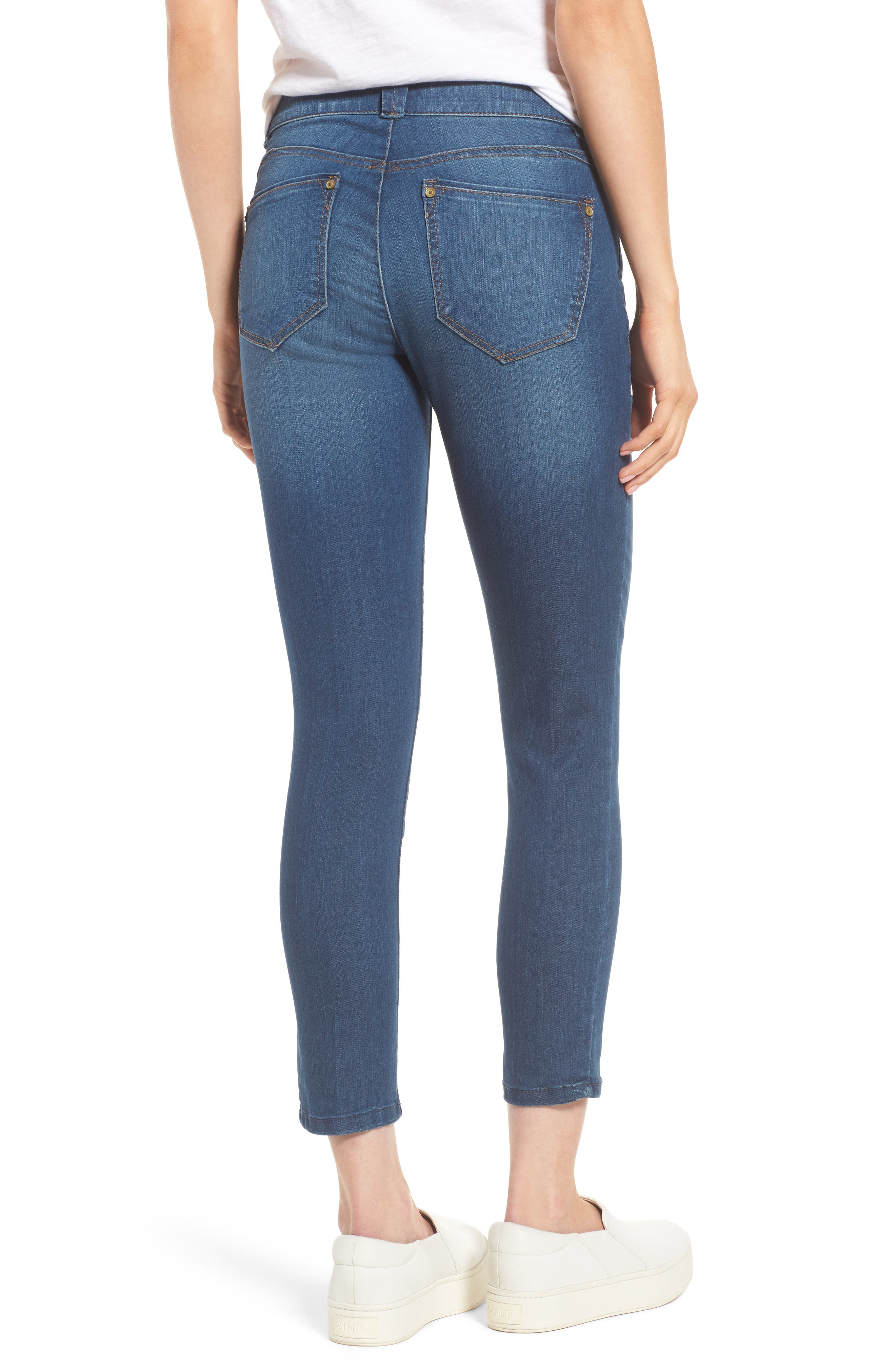 WIT & WISDOM, Ab-solution Ankle Skimmer Jeans, Alternate thumbnail 2, color, BLUE