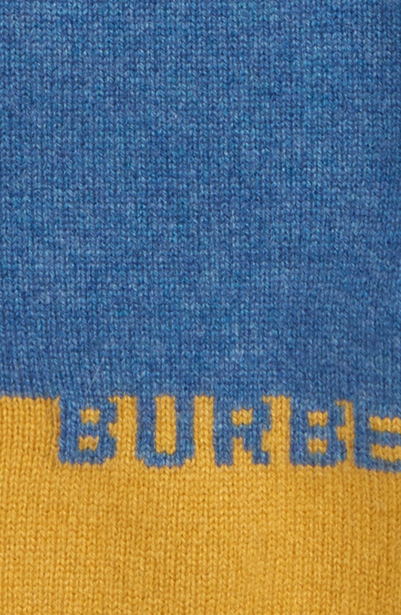 BURBERRY, Alister Cashmere Sweater, Alternate thumbnail 2, color, DUSTY BLUE MELANGE