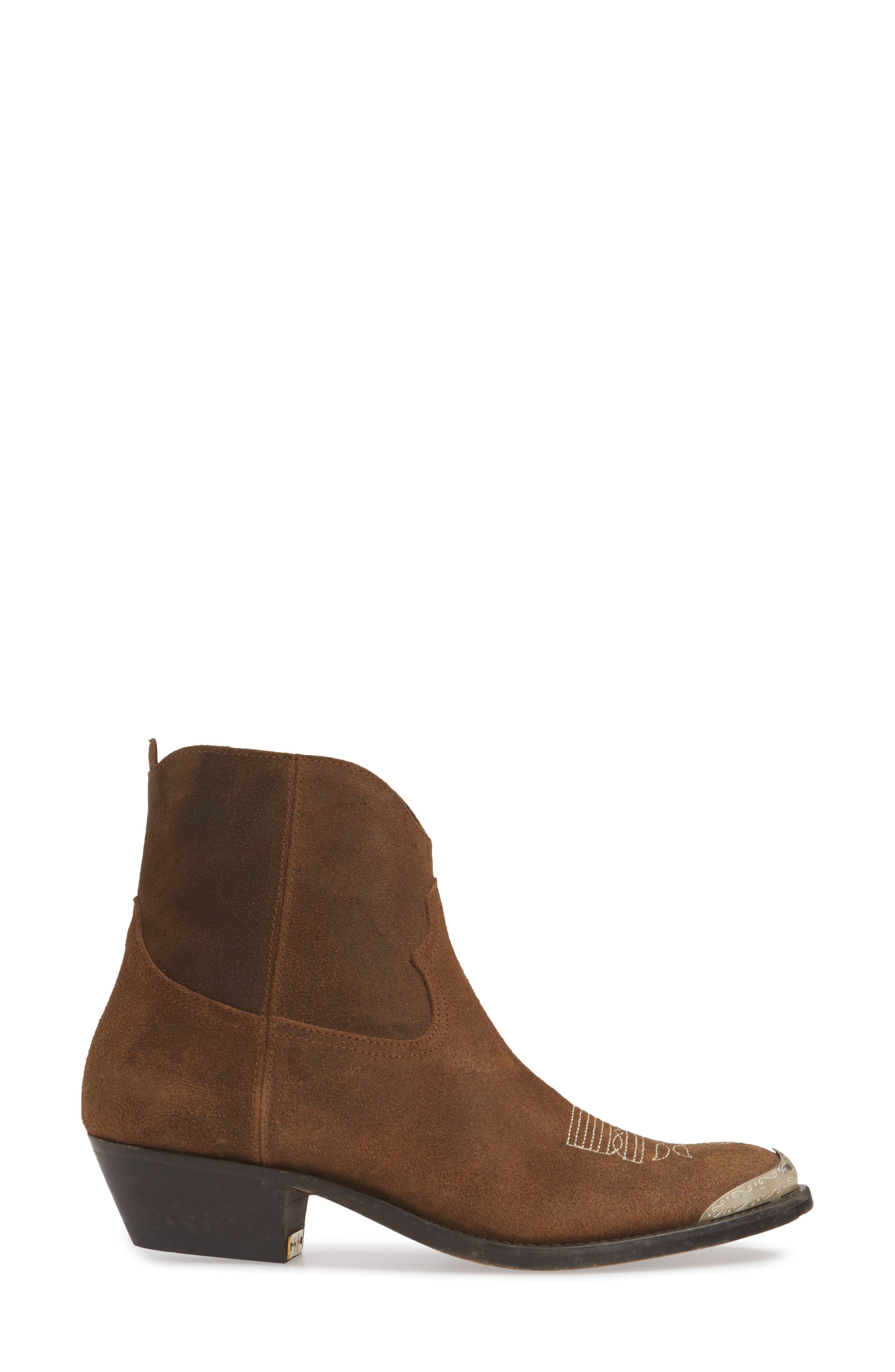 GOLDEN GOOSE, Young Western Boot, Alternate thumbnail 3, color, DARK BROWN