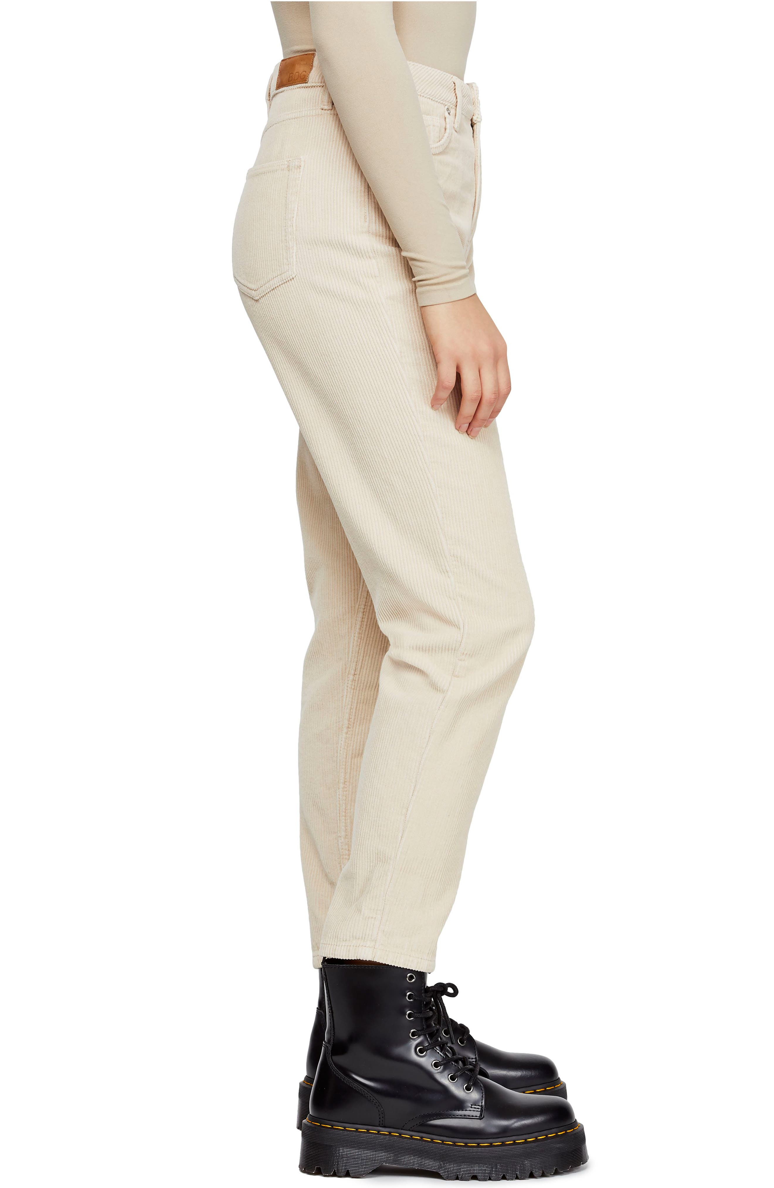 BDG, Urban Outfitters Mom Corduroy Pants, Alternate thumbnail 4, color, WHITE