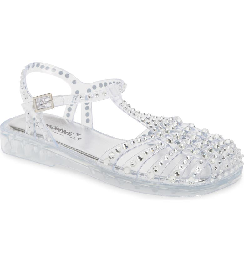 4967ffacd712 JEFFREY CAMPBELL Gelly Crystal Embellished Sandal, Main, color, CLEAR SILVER