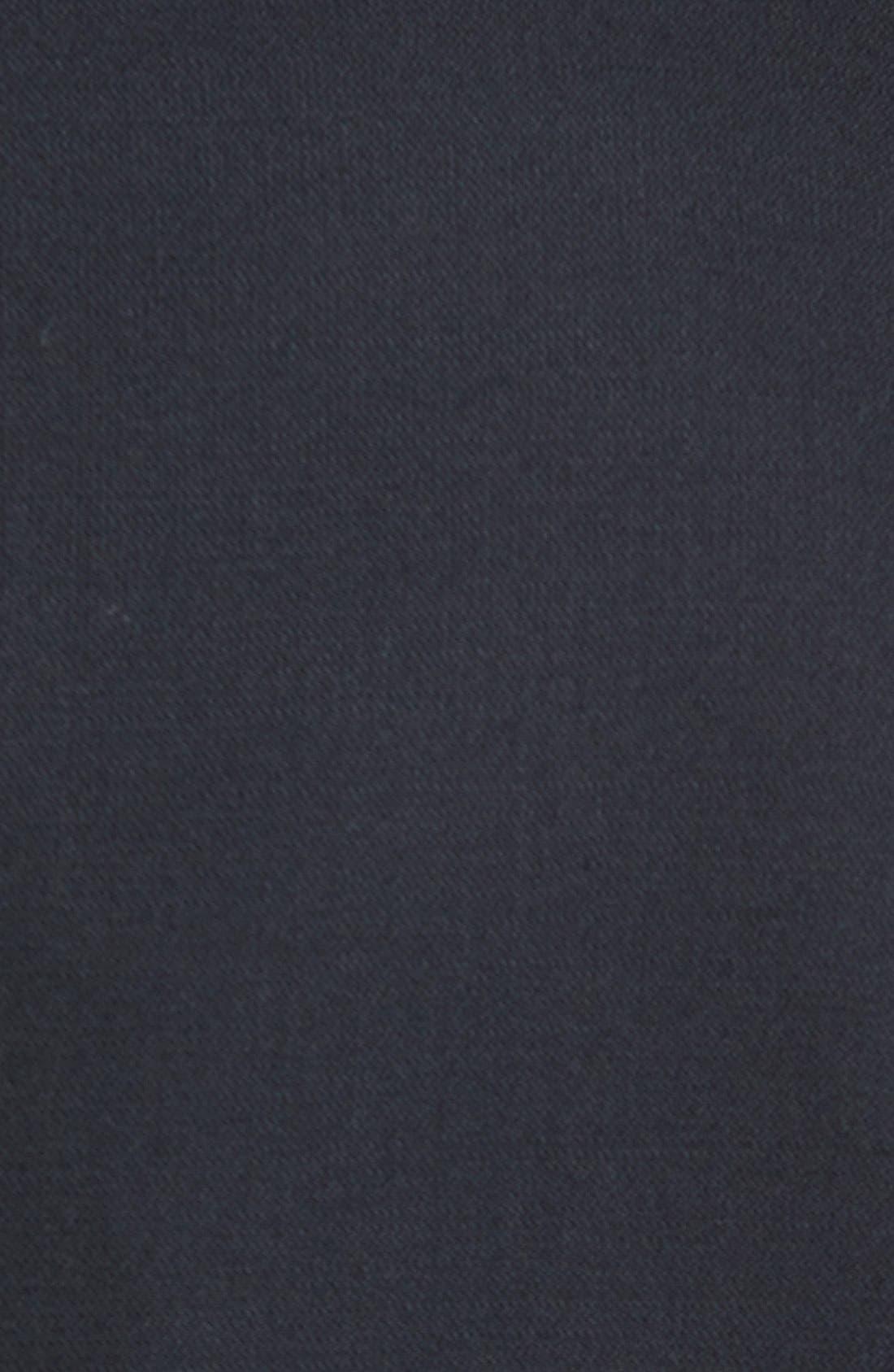 HART SCHAFFNER MARX, New York Classic Fit Black Wool Tuxedo, Alternate thumbnail 7, color, BLACK
