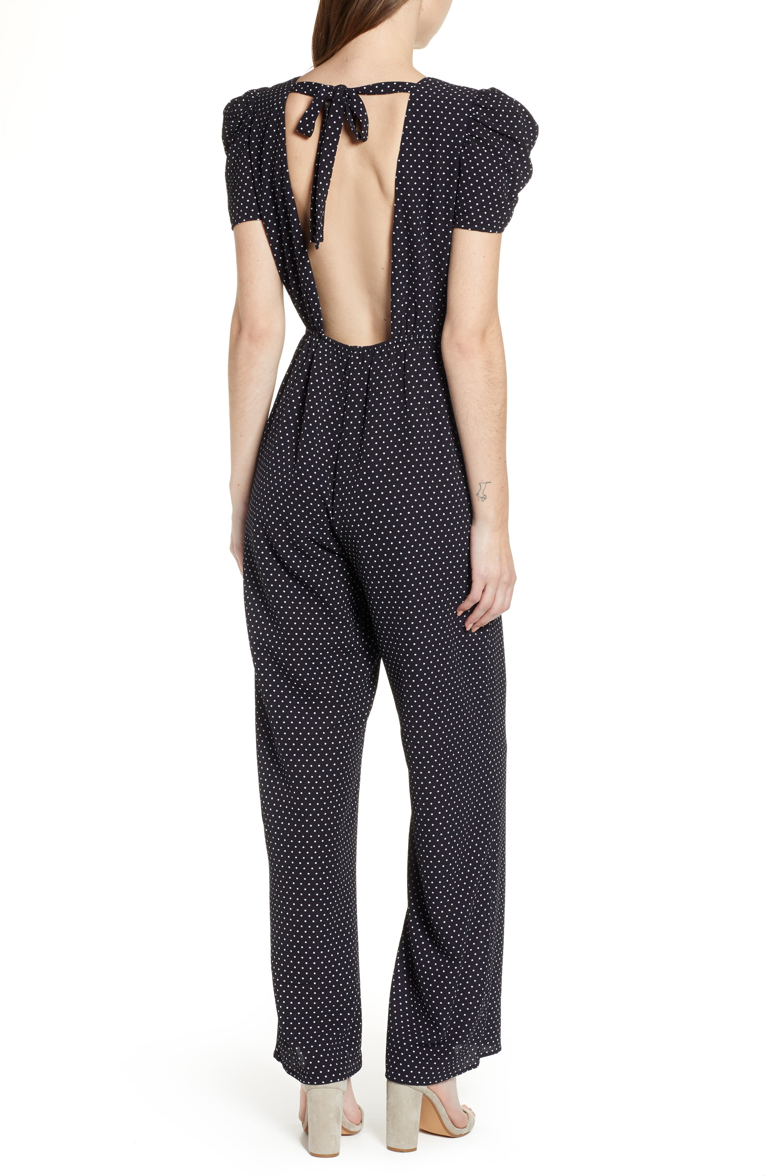 ROW A, Puff Sleeve Jumpsuit, Alternate thumbnail 2, color, 410