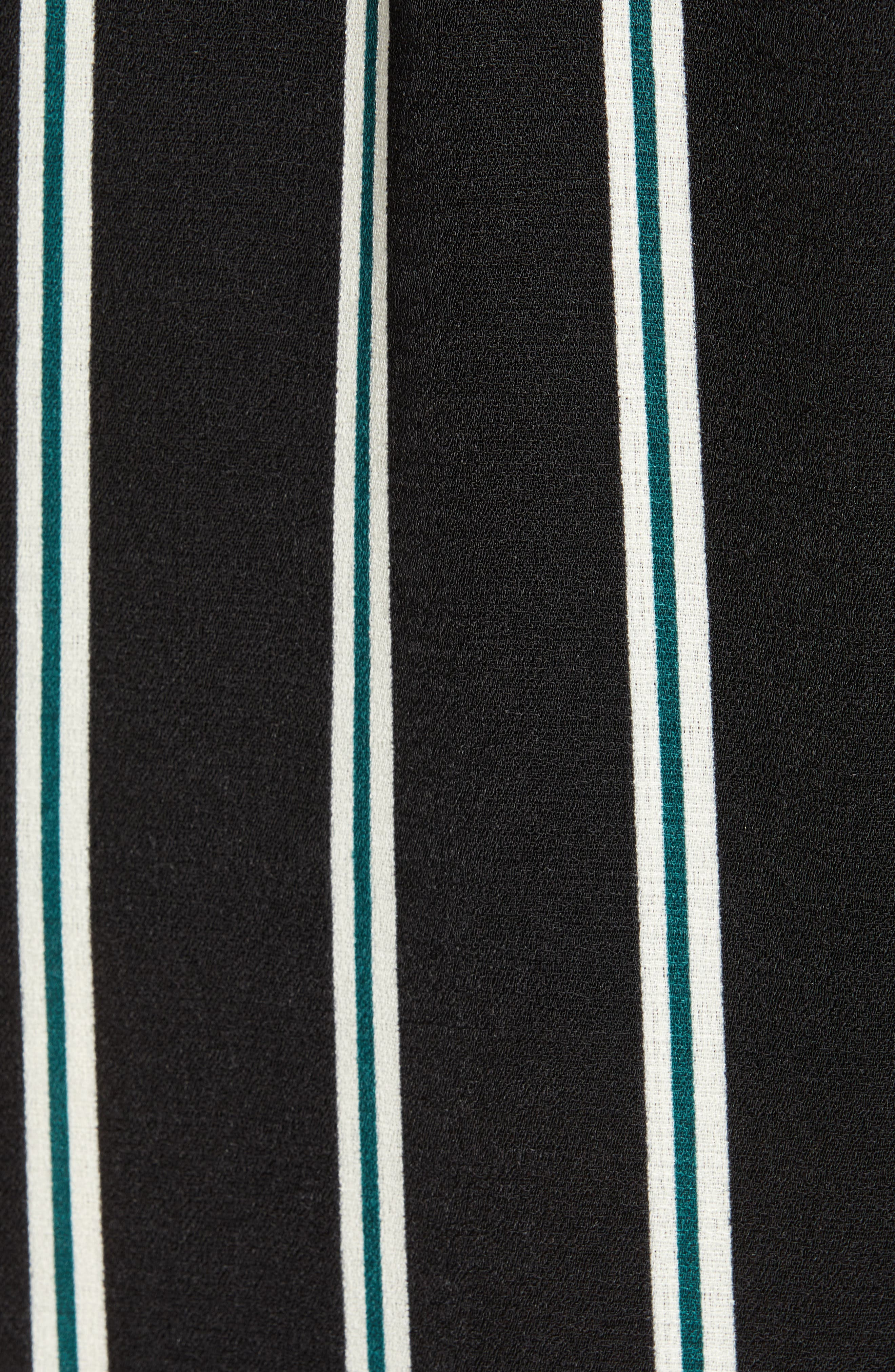 SOCIALITE, Deep-V Jumpsuit, Alternate thumbnail 6, color, GREEN BUG STRIPE