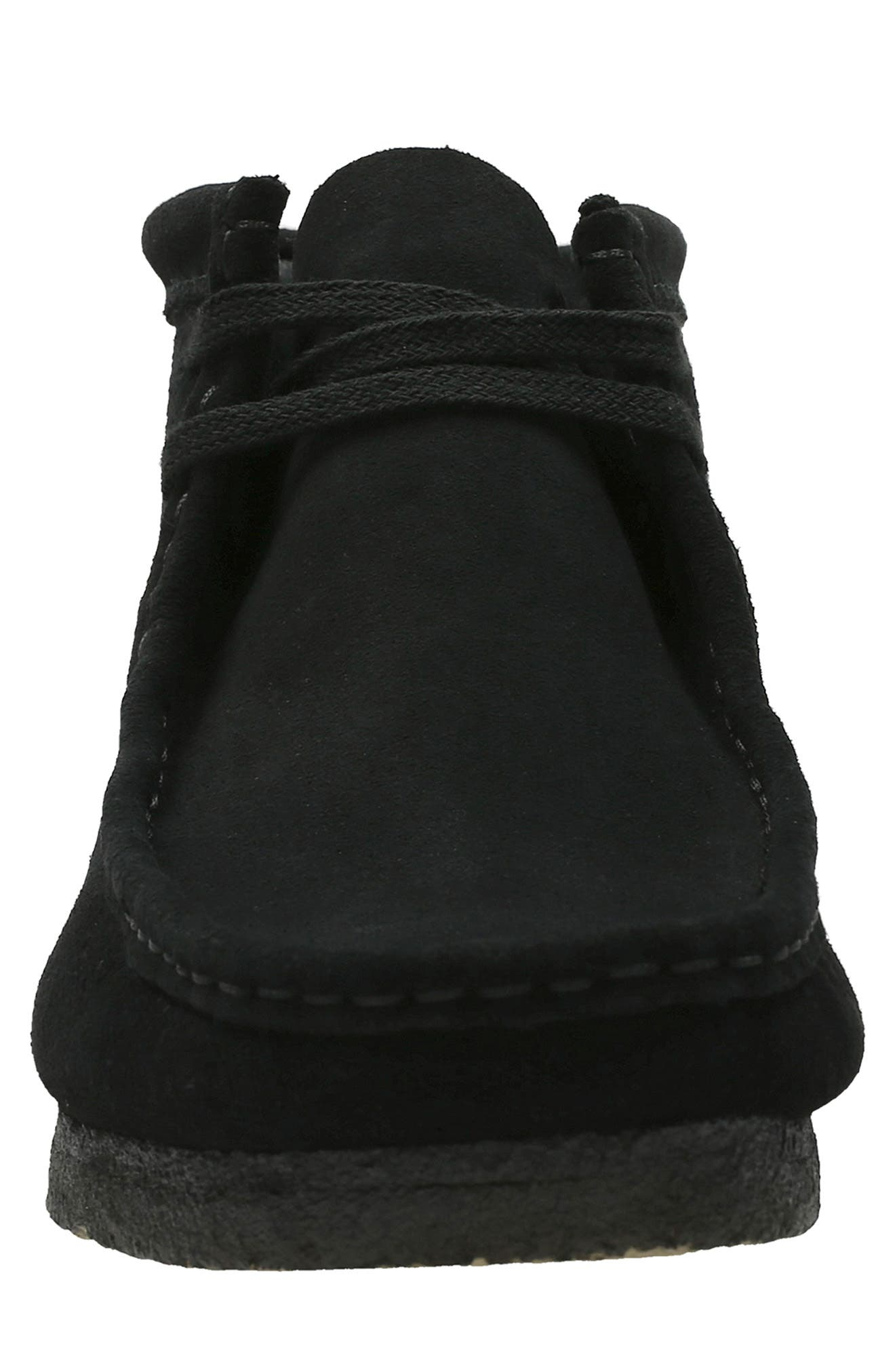 CLARKS<SUP>®</SUP>, Originals Wallabee Boot, Alternate thumbnail 3, color, BLACK SUEDE