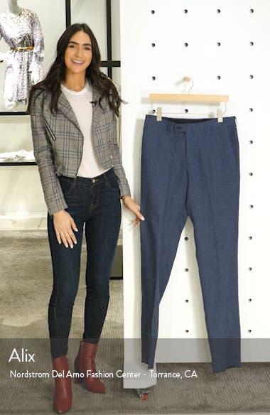 Flat Front Mélange Linen Trousers, sales video thumbnail