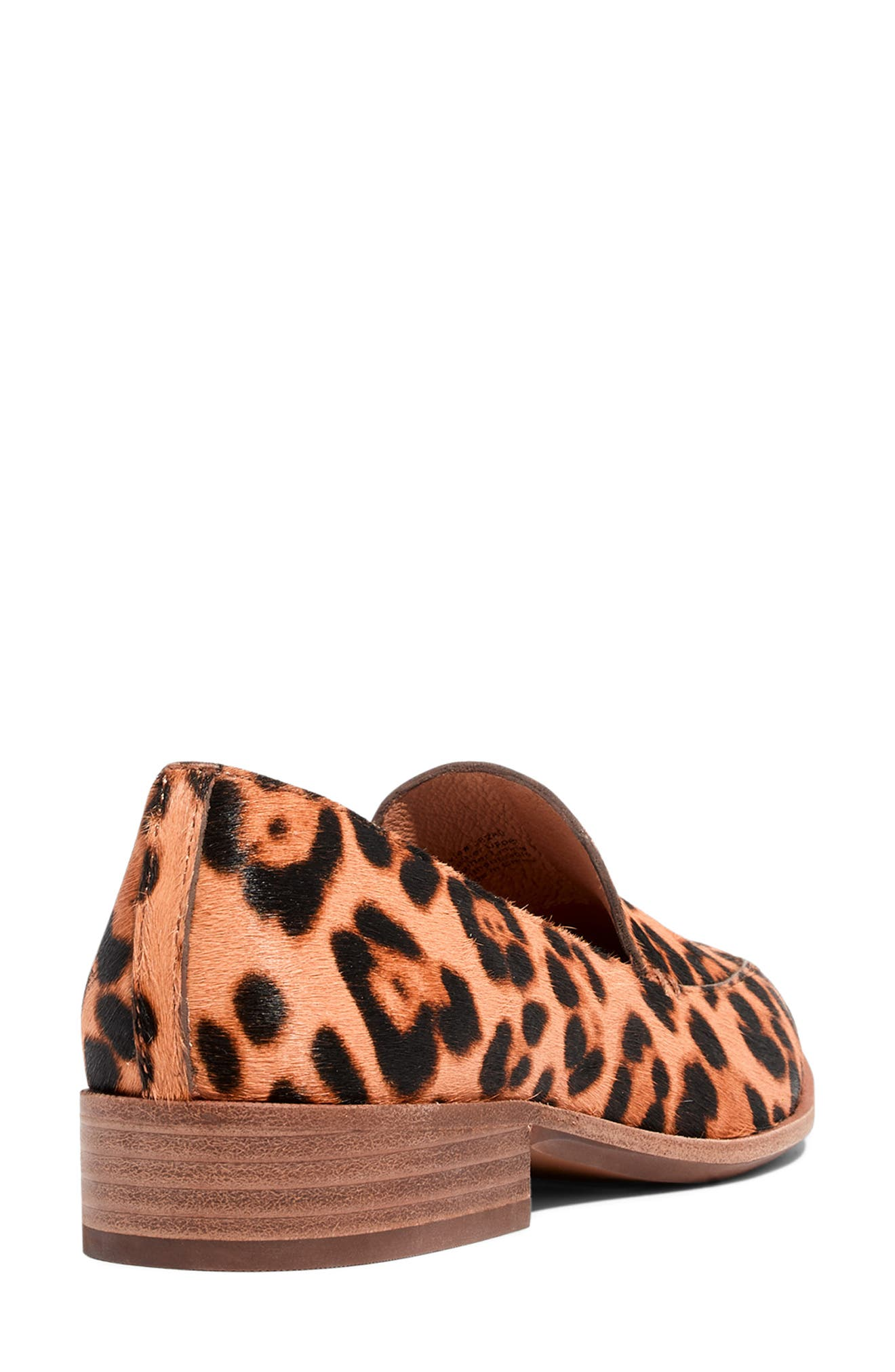 MADEWELL, The Frances Genuine Calf Hair Loafer, Alternate thumbnail 7, color, TRUFFLE MULTI LEOPARD CALFHAIR