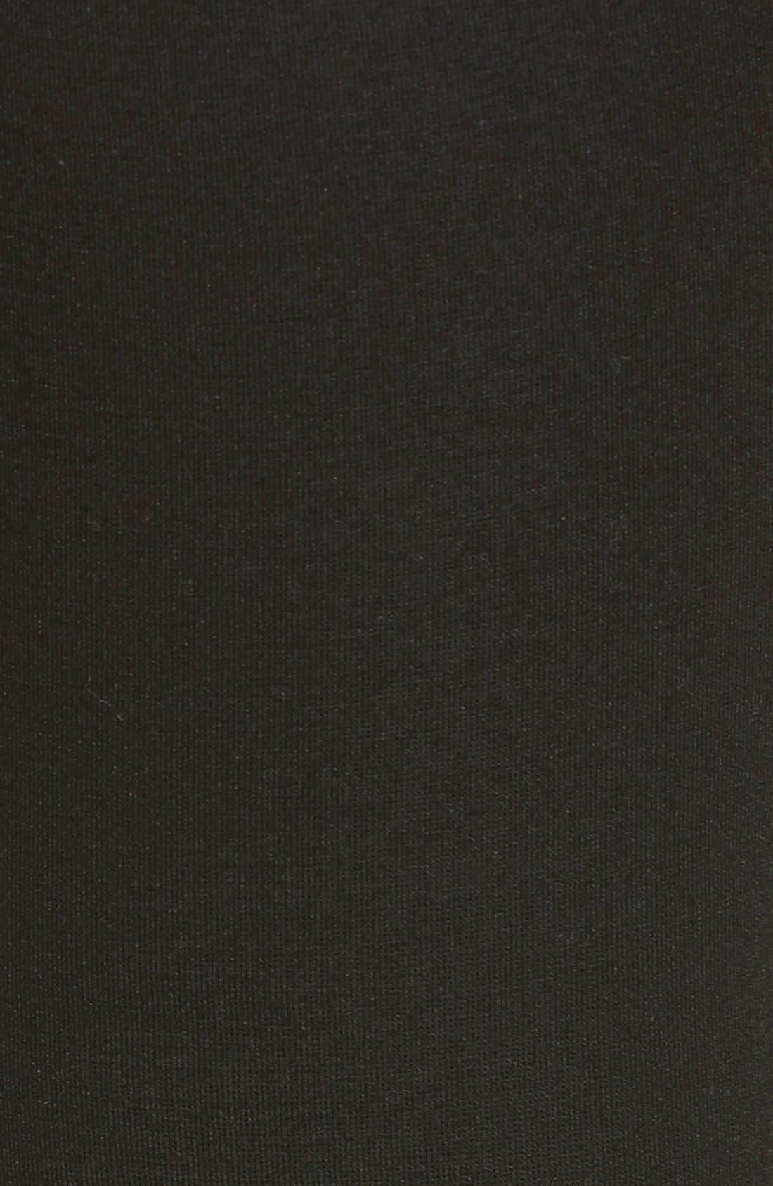 HUE, Blackout Leggings, Alternate thumbnail 3, color, 001