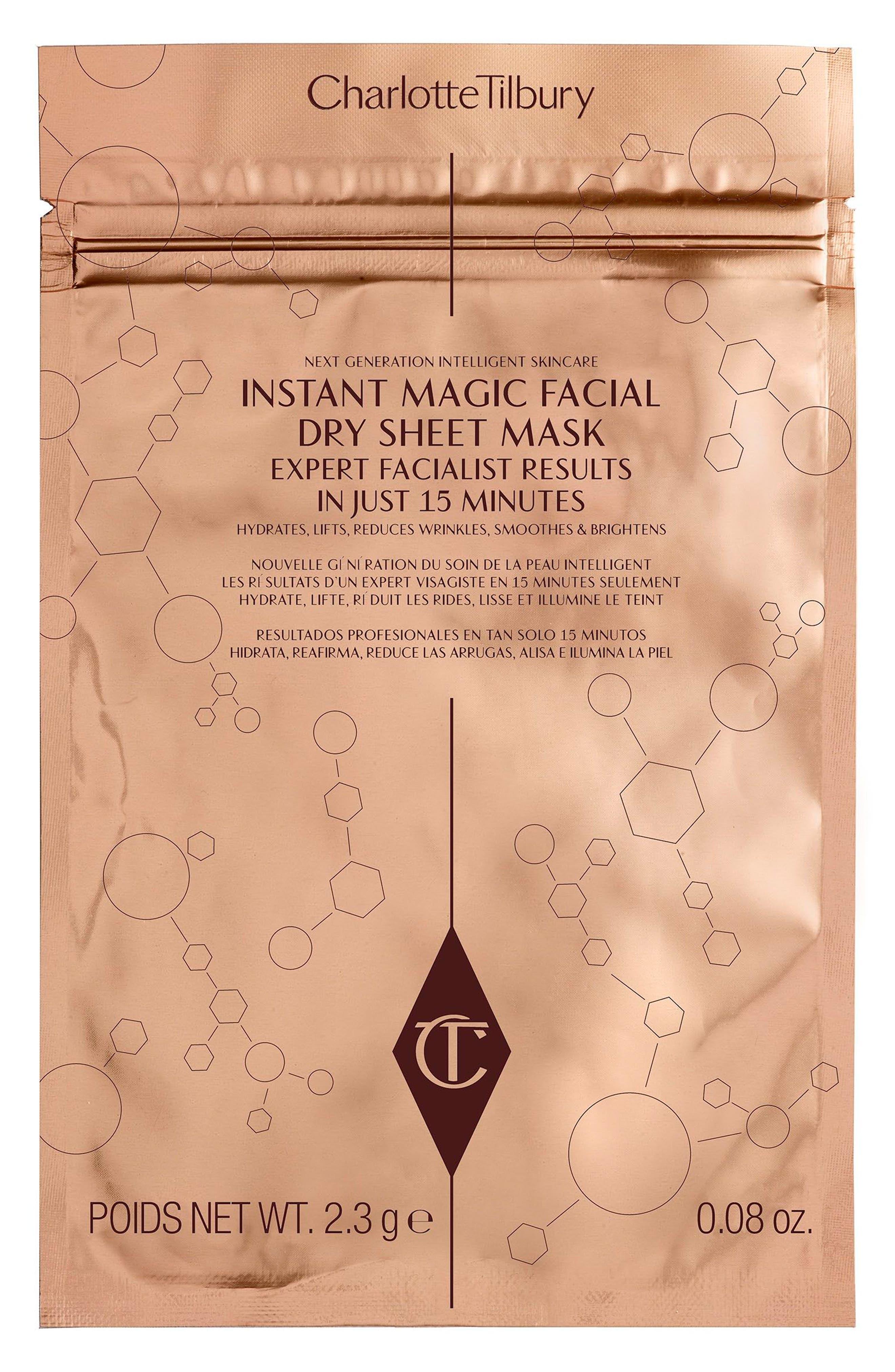 CHARLOTTE TILBURY, Instant Magic Facial Dry Sheet Mask, Main thumbnail 1, color, NO COLOR