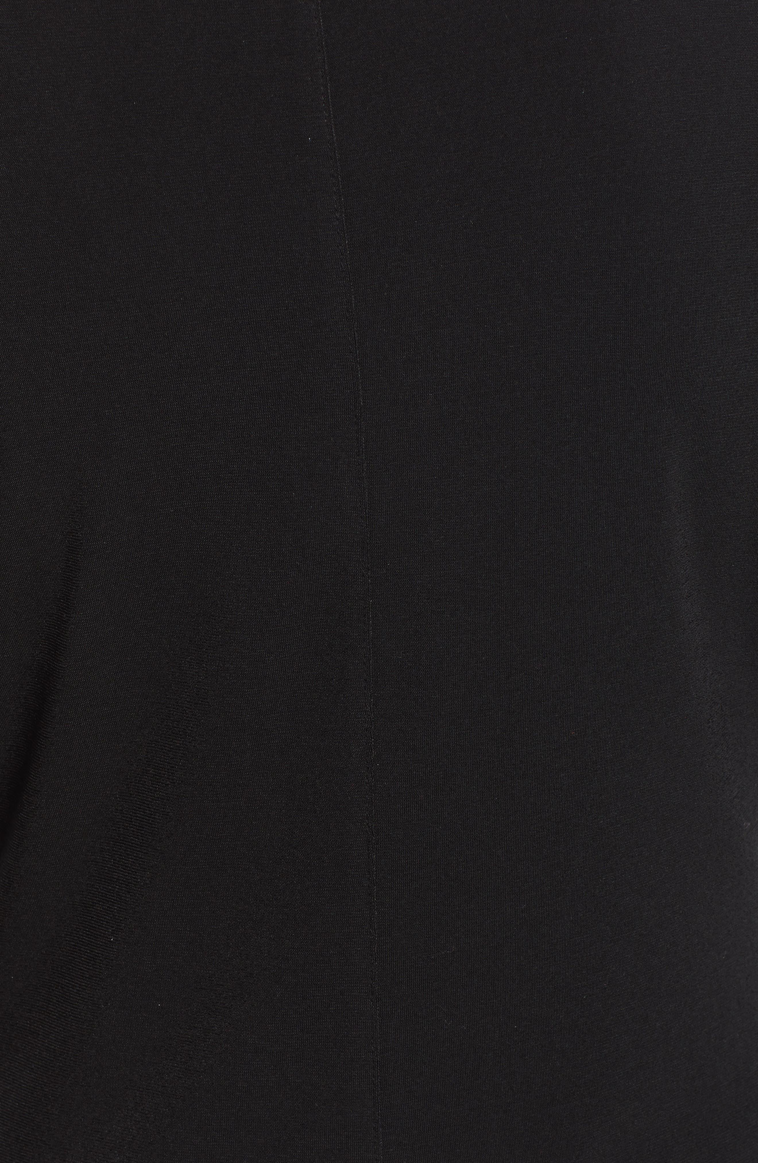 HALOGEN<SUP>®</SUP>, Surplice Knit Top, Alternate thumbnail 5, color, BLACK