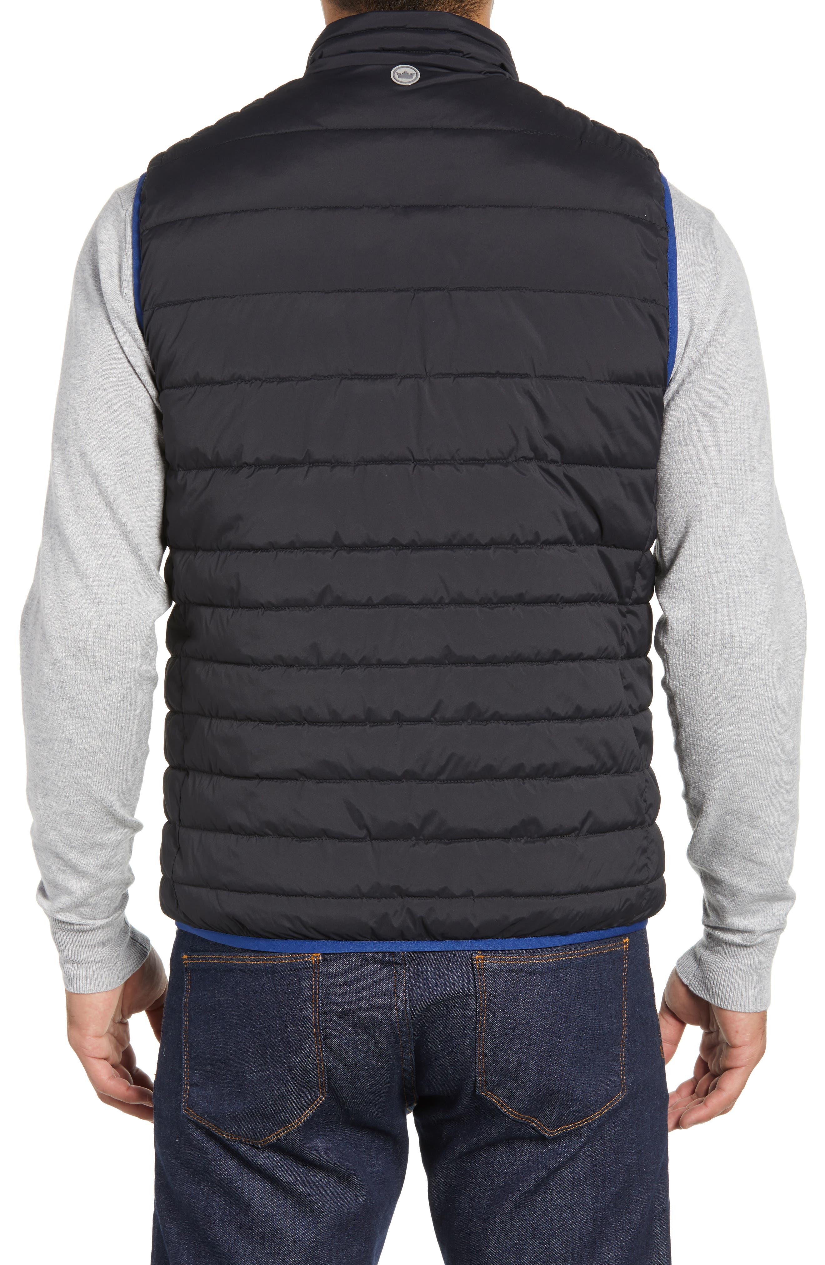 PETER MILLAR, Crown Elite Reversible Vest, Alternate thumbnail 4, color, BLACK/SAIL