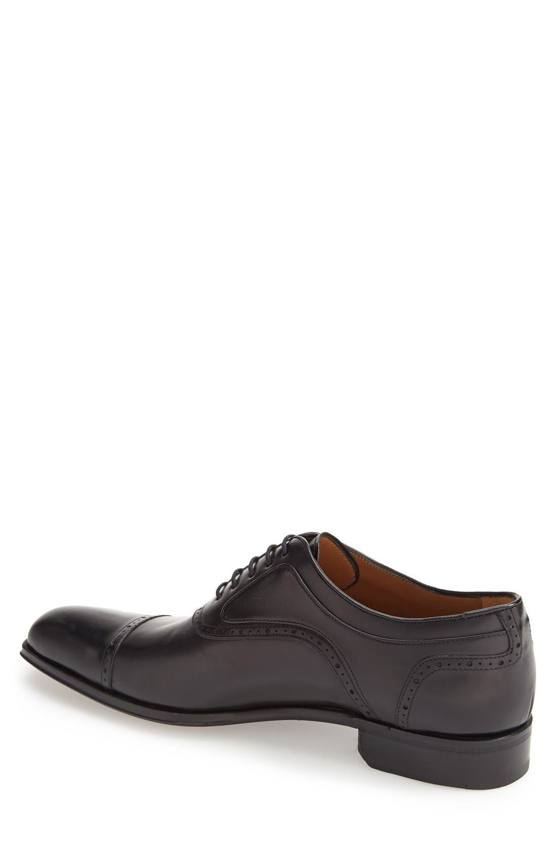 MEZLAN, 'March' Cap Toe Oxford, Alternate thumbnail 2, color, 001