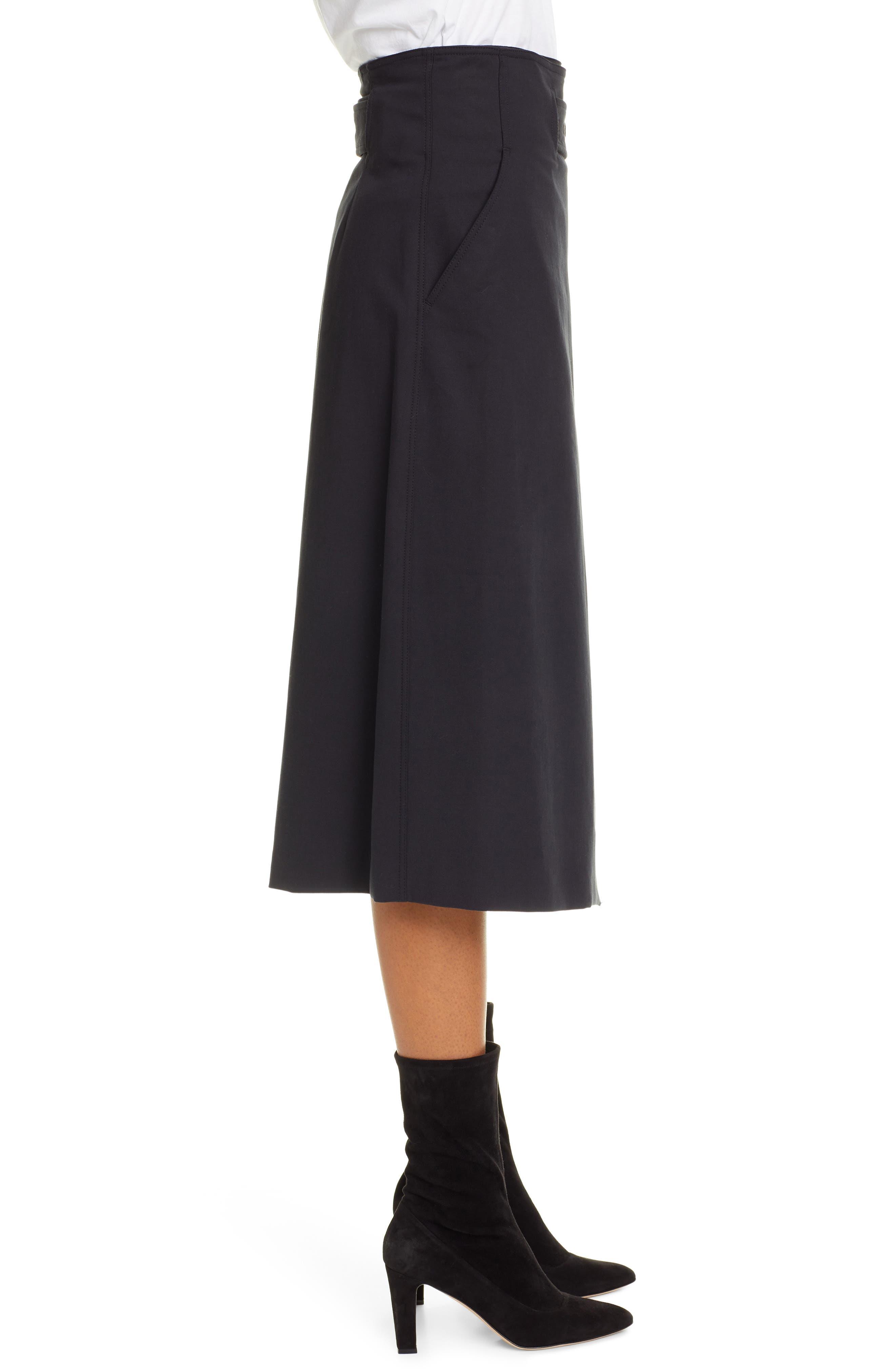 A.L.C., Aldridge Belted Midi Skirt, Alternate thumbnail 3, color, VINTAGE BLACK