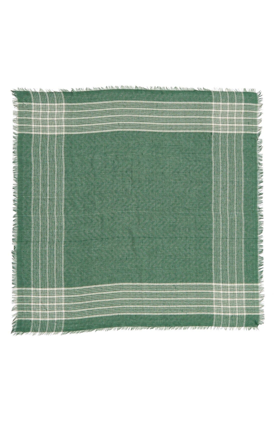 BP., Check Square Scarf, Alternate thumbnail 2, color, 310