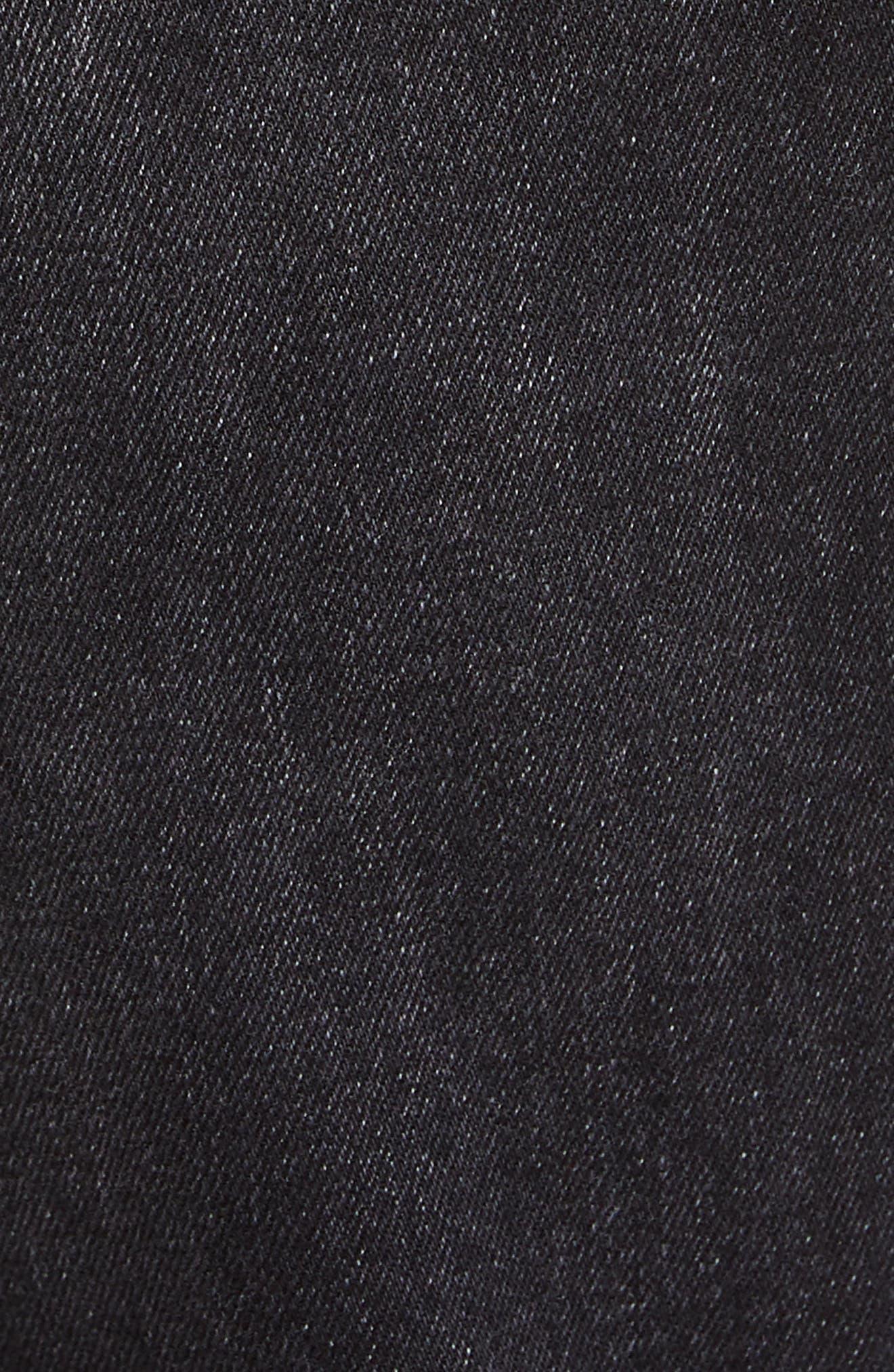KSUBI, Chitch Hard Rock Skinny Fit Crop Jeans, Alternate thumbnail 5, color, BLACK