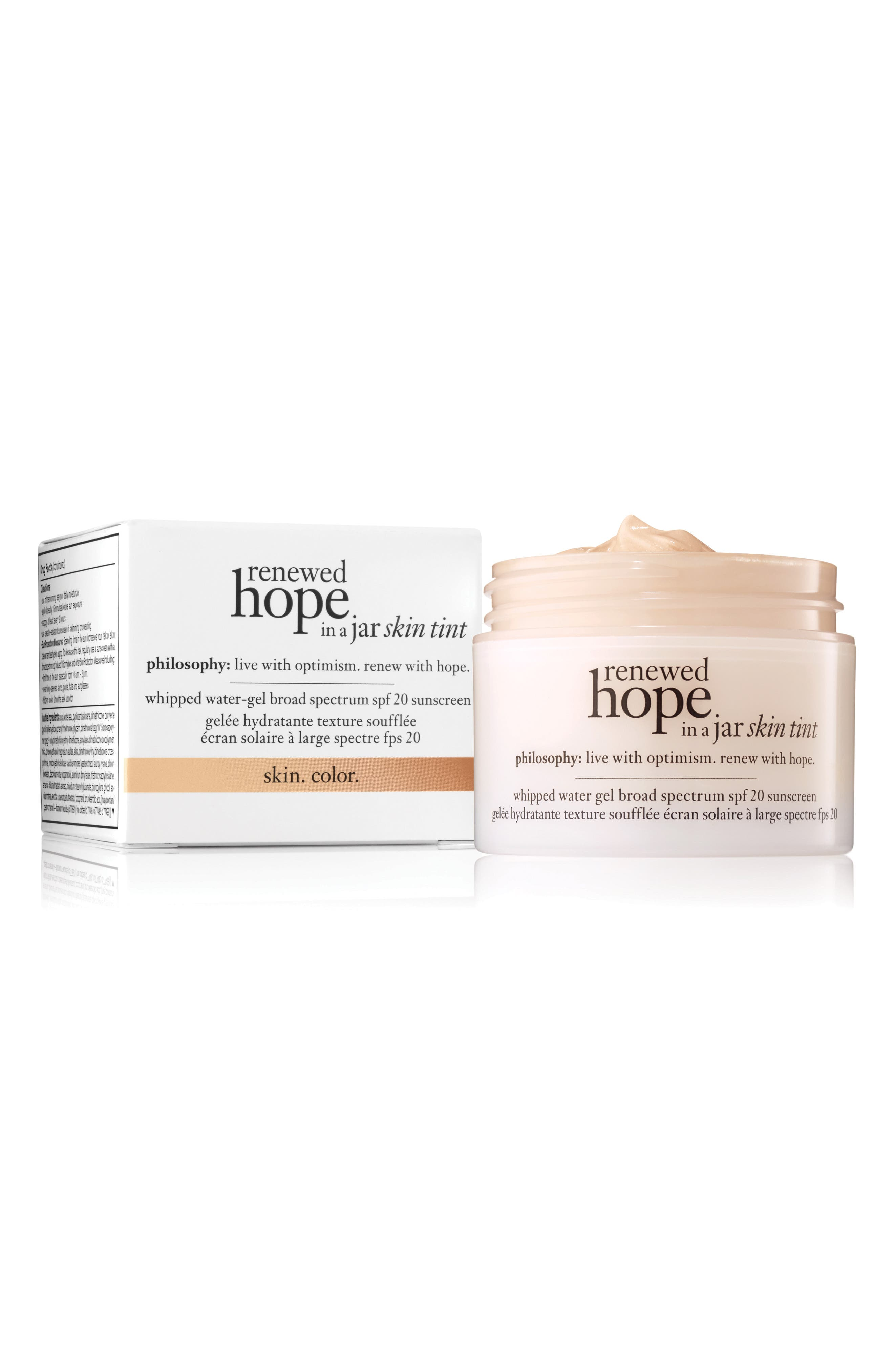 PHILOSOPHY renewed hope in a jar skin tint, Main, color, 250