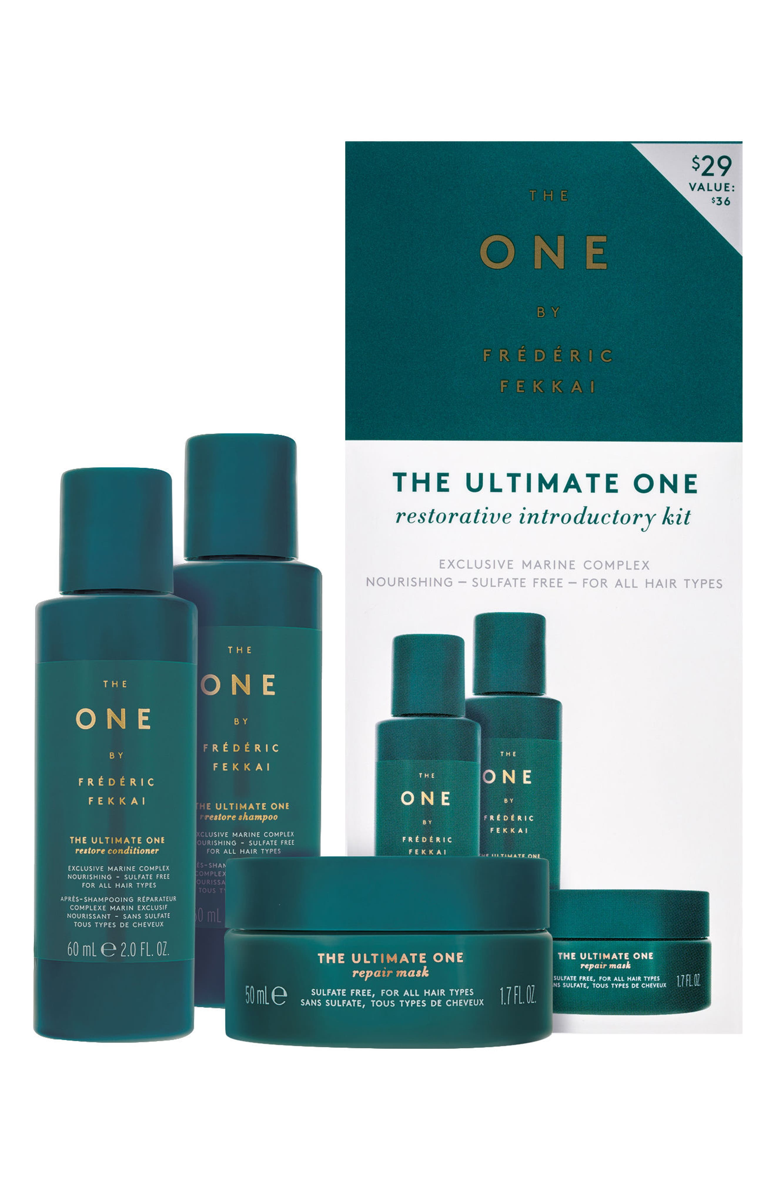 THE ONE BY FRÉDÉRIC FEKKAI, The Ultimate One Restorative Introductory Kit, Main thumbnail 1, color, NO COLOR