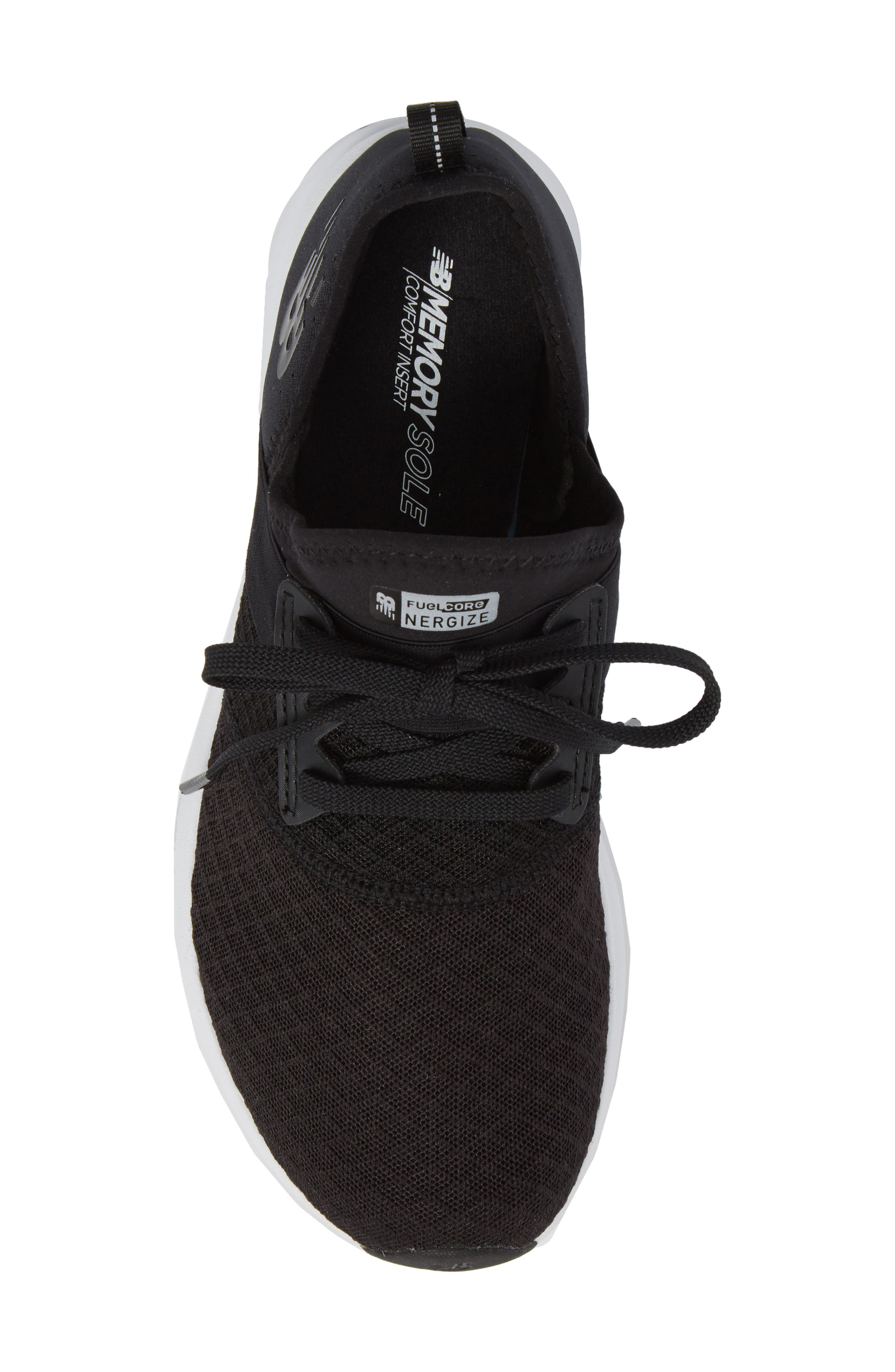 NEW BALANCE, FuelCore NERGIZE Sneaker, Alternate thumbnail 5, color, BLACK
