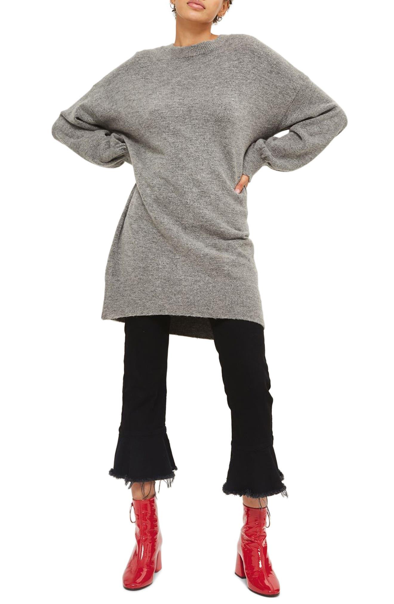TOPSHOP, Sweater Dress, Main thumbnail 1, color, 021