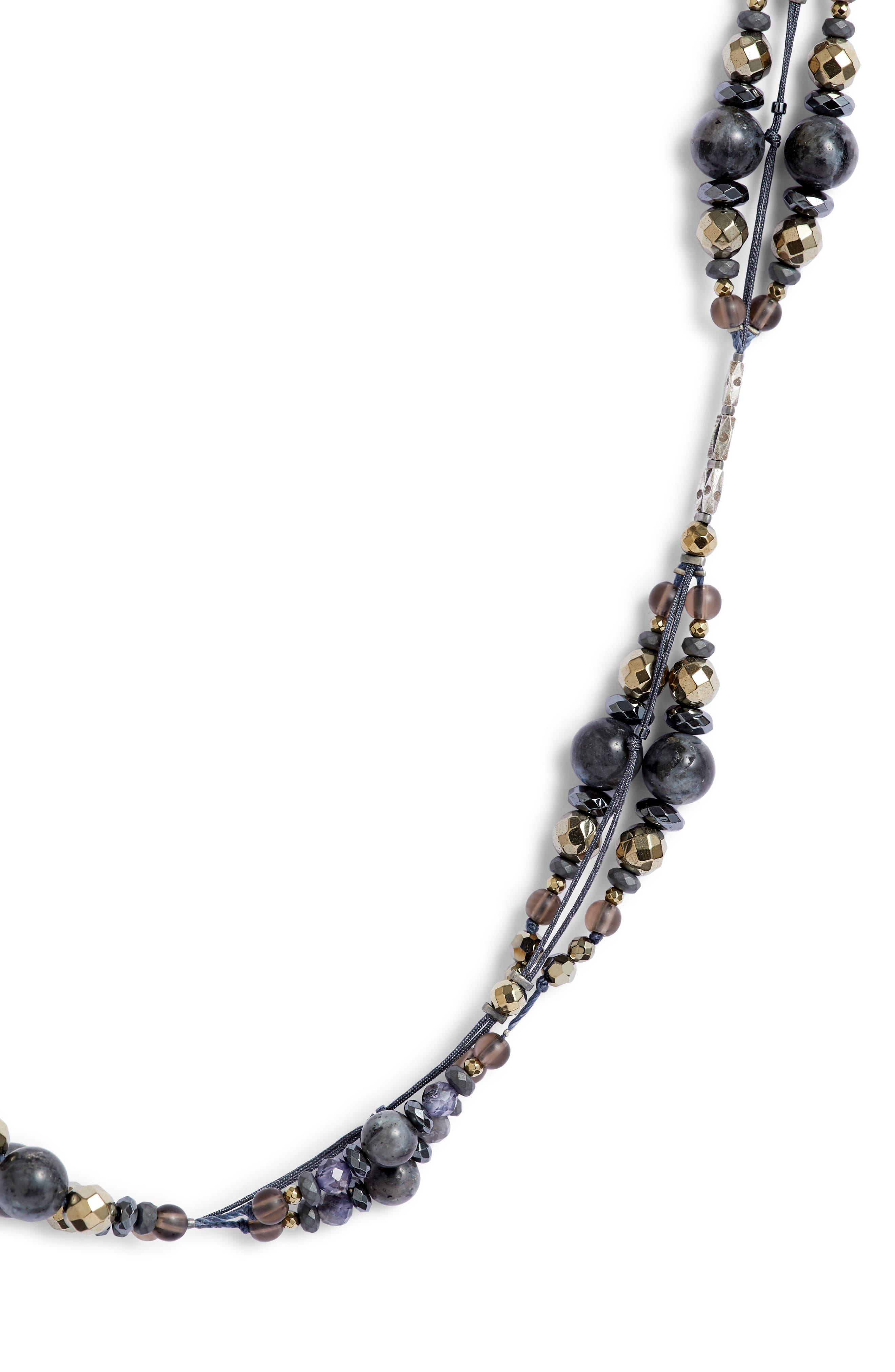 CHAN LUU, Mixed Bead Necklace, Alternate thumbnail 2, color, 072