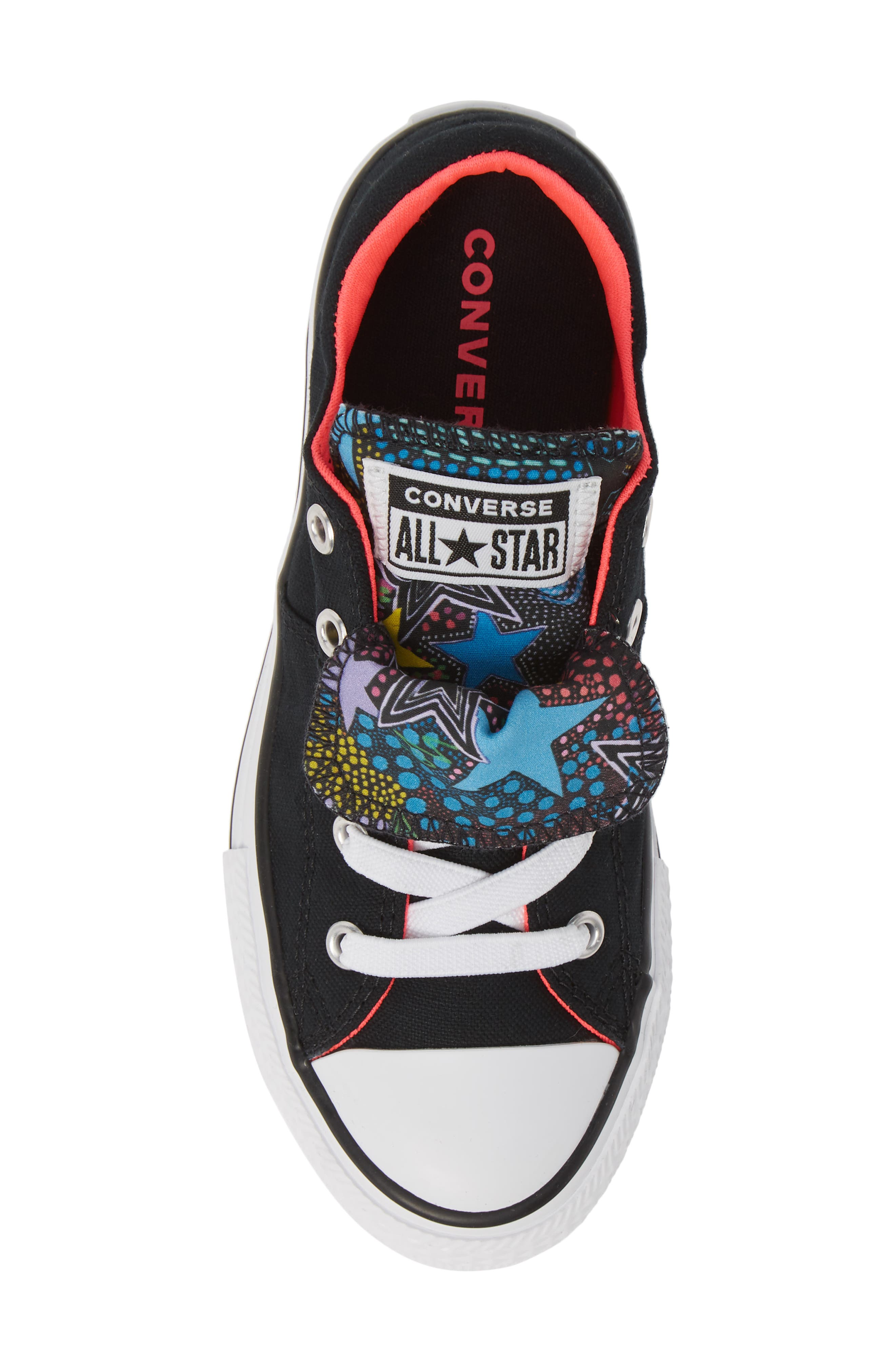CONVERSE, Chuck Taylor<sup>®</sup> All Star<sup>®</sup> Maddie Double Tongue Sneaker, Alternate thumbnail 5, color, 001