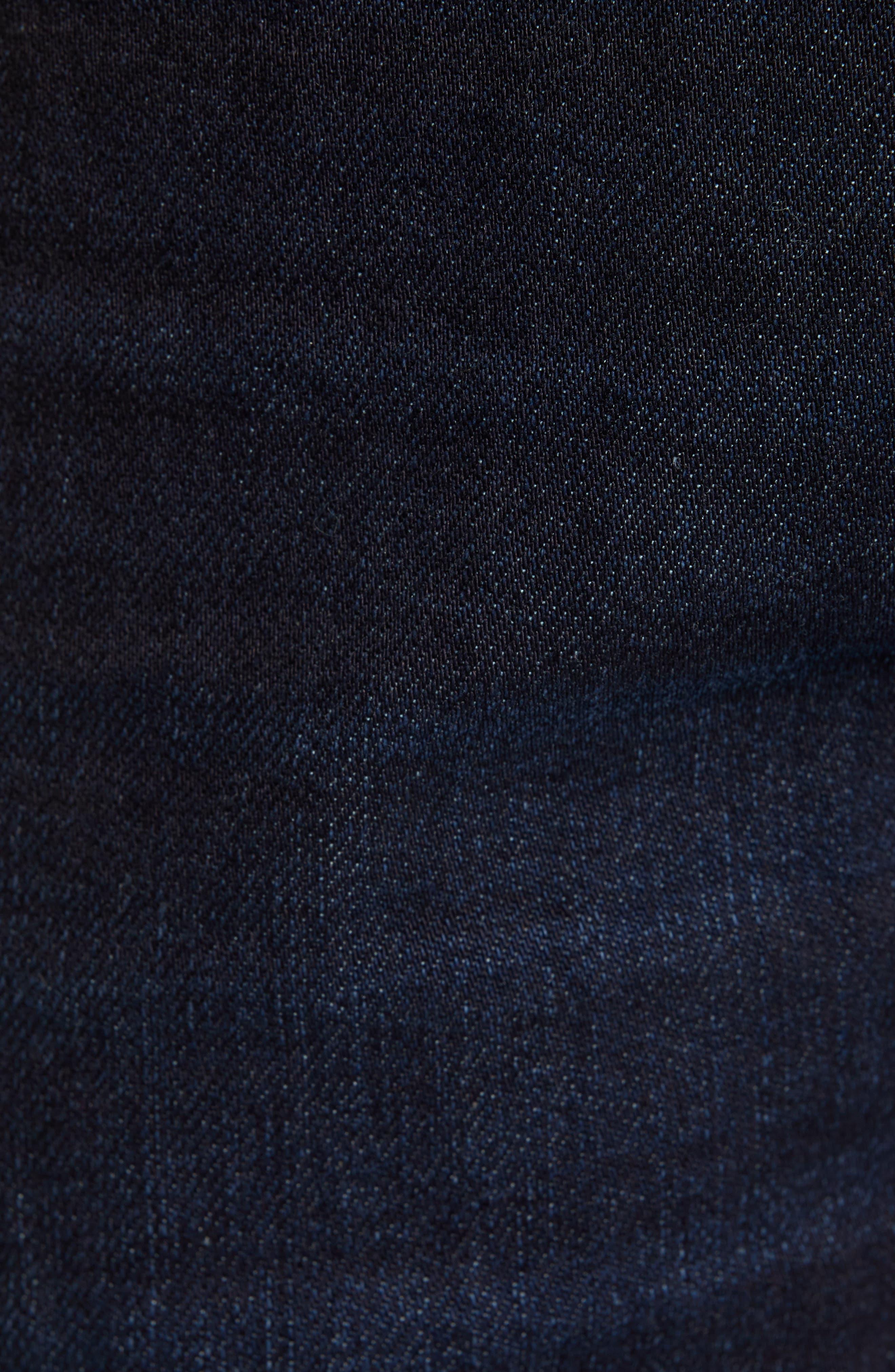 REVTOWN, Sharp Slim Fit Jeans, Alternate thumbnail 5, color, DARK INDIGO