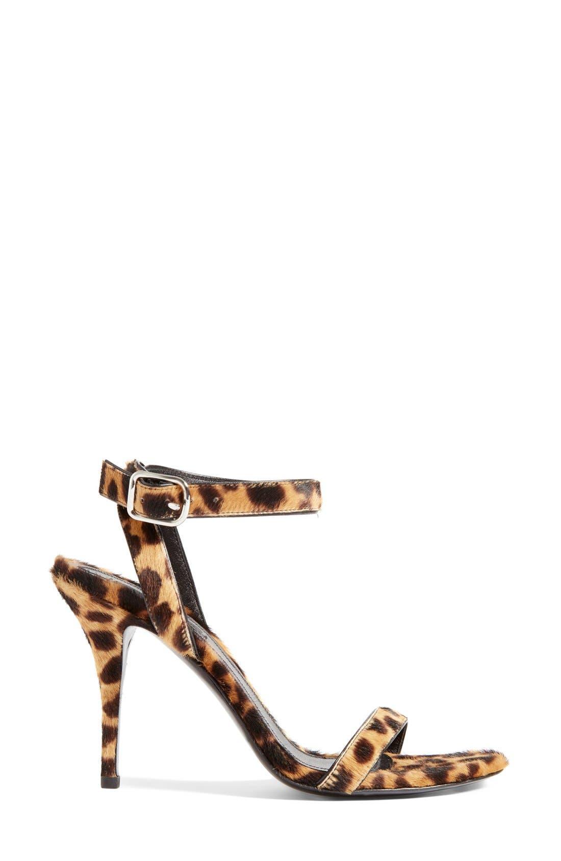 ALEXANDER WANG, 'Atalya' Genuine Calf Hair Ankle Strap Sandal, Alternate thumbnail 3, color, 250