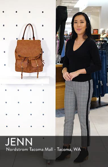 Emery Faux Leather Backpack, sales video thumbnail