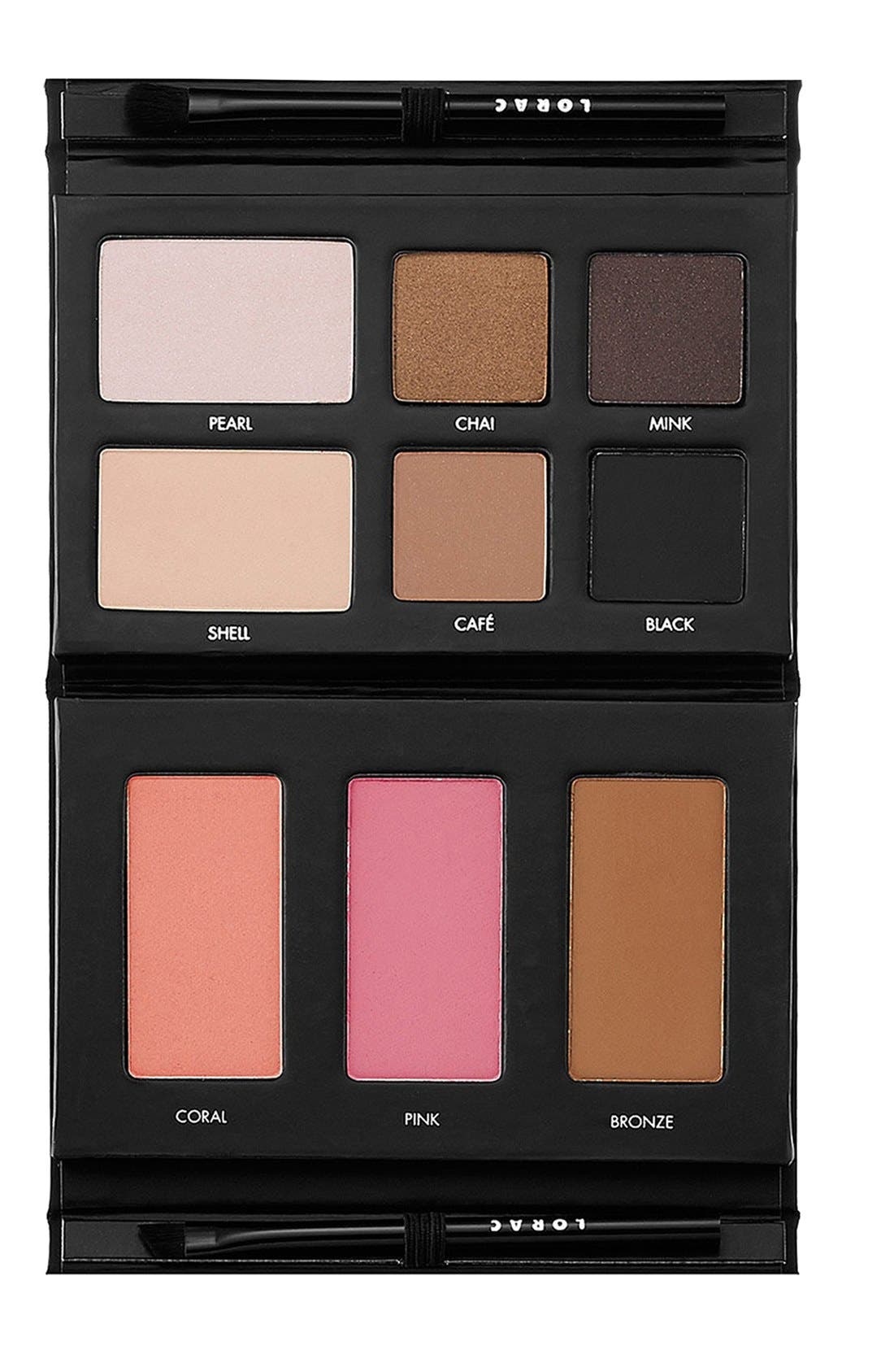 LORAC, 'PRO to Go' Eye/Cheek Palette, Main thumbnail 1, color, 000