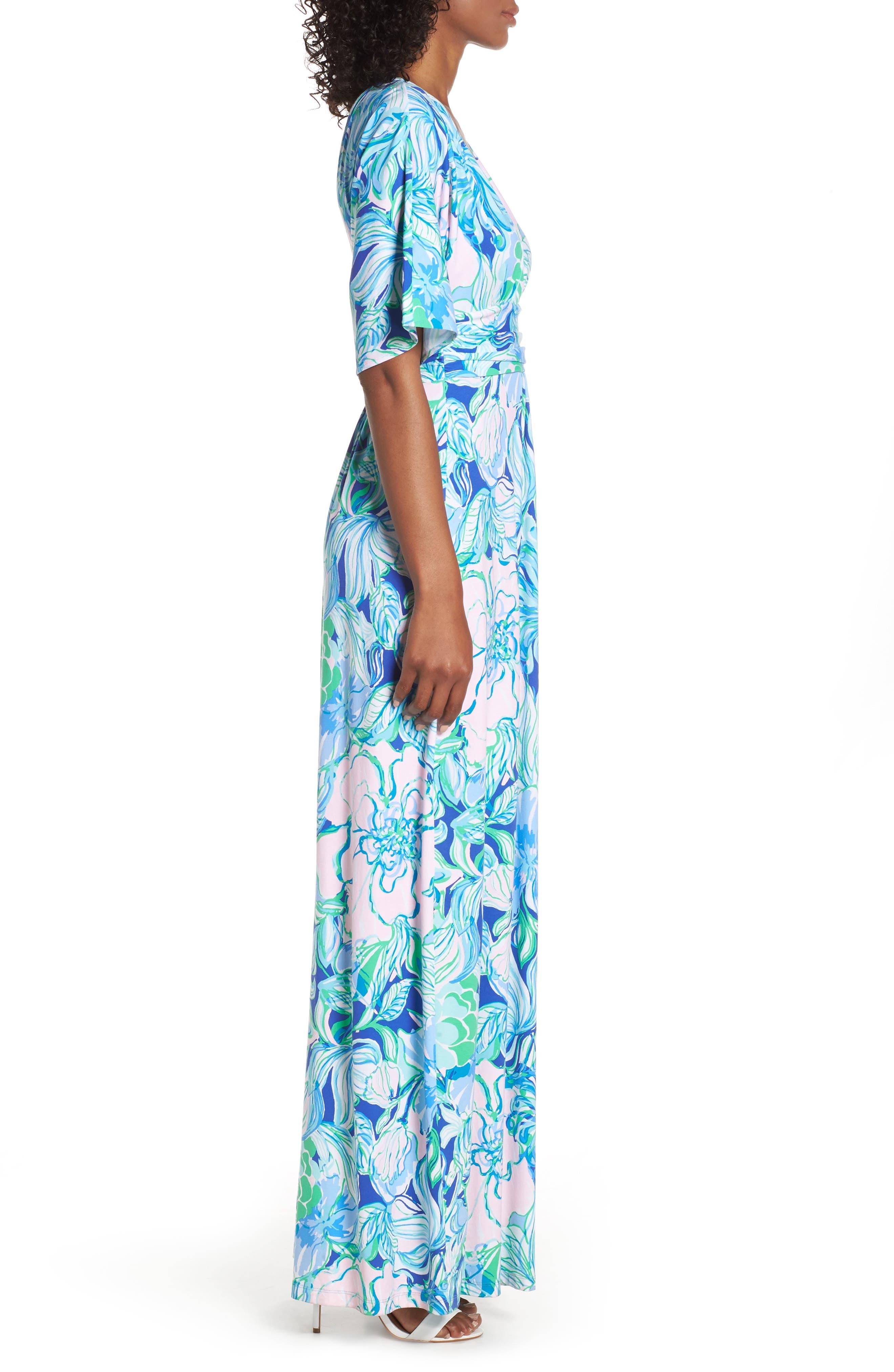 LILLY PULITZER<SUP>®</SUP>, Parigi Maxi Dress, Alternate thumbnail 3, color, MULTI PARTY THYME