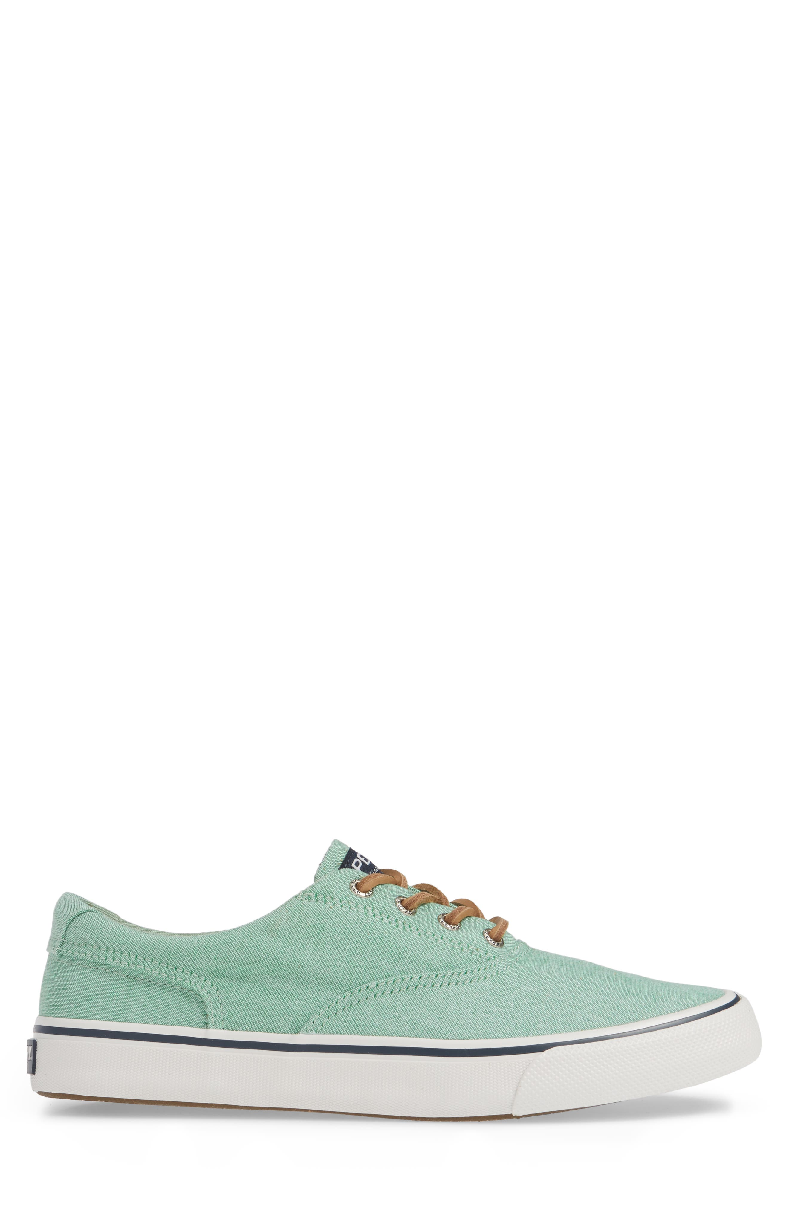 SPERRY, Striper II CVO Oxford Sneaker, Alternate thumbnail 3, color, GREEN