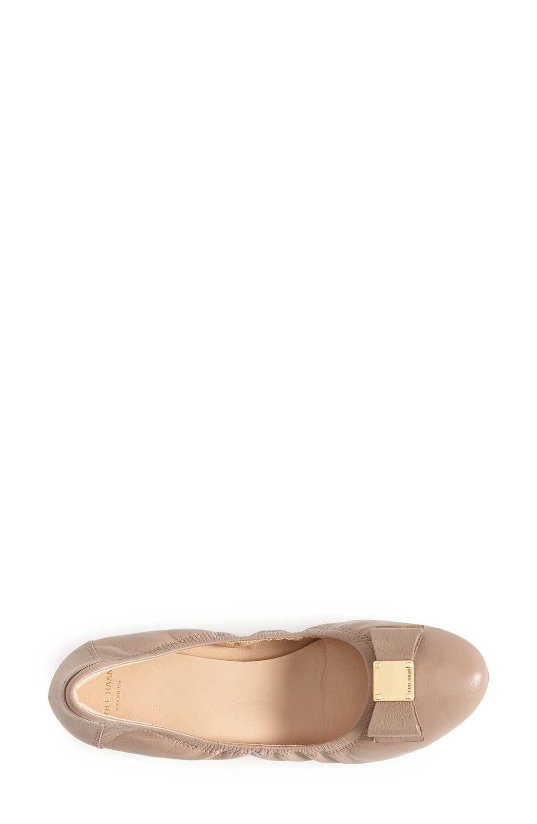 COLE HAAN, 'Tali' Bow Ballet Flat, Alternate thumbnail 3, color, MAPLE SUGAR