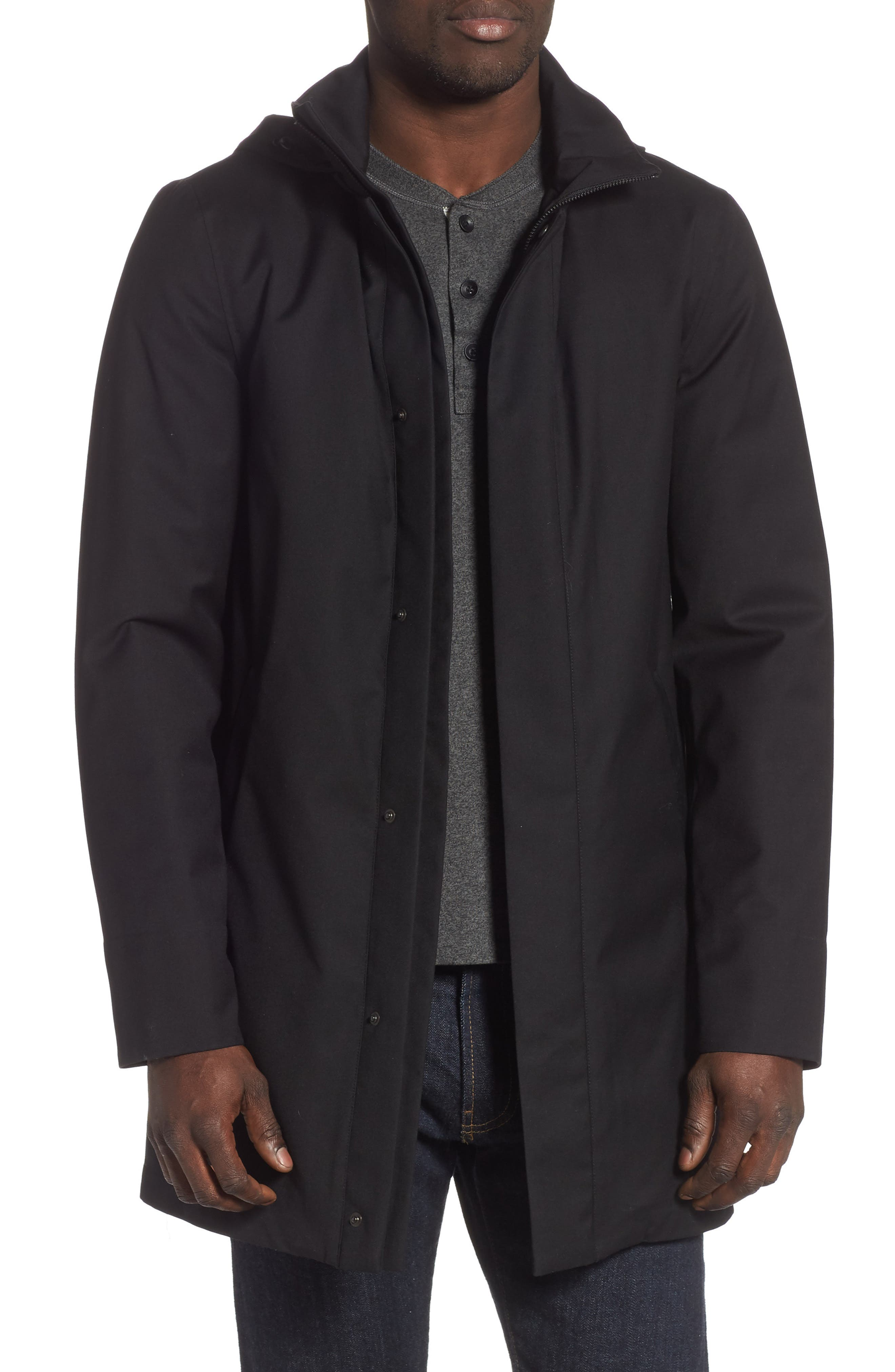 MACKAGE, Thorin-Z Jacket with Removable Down Lining, Main thumbnail 1, color, BLACK