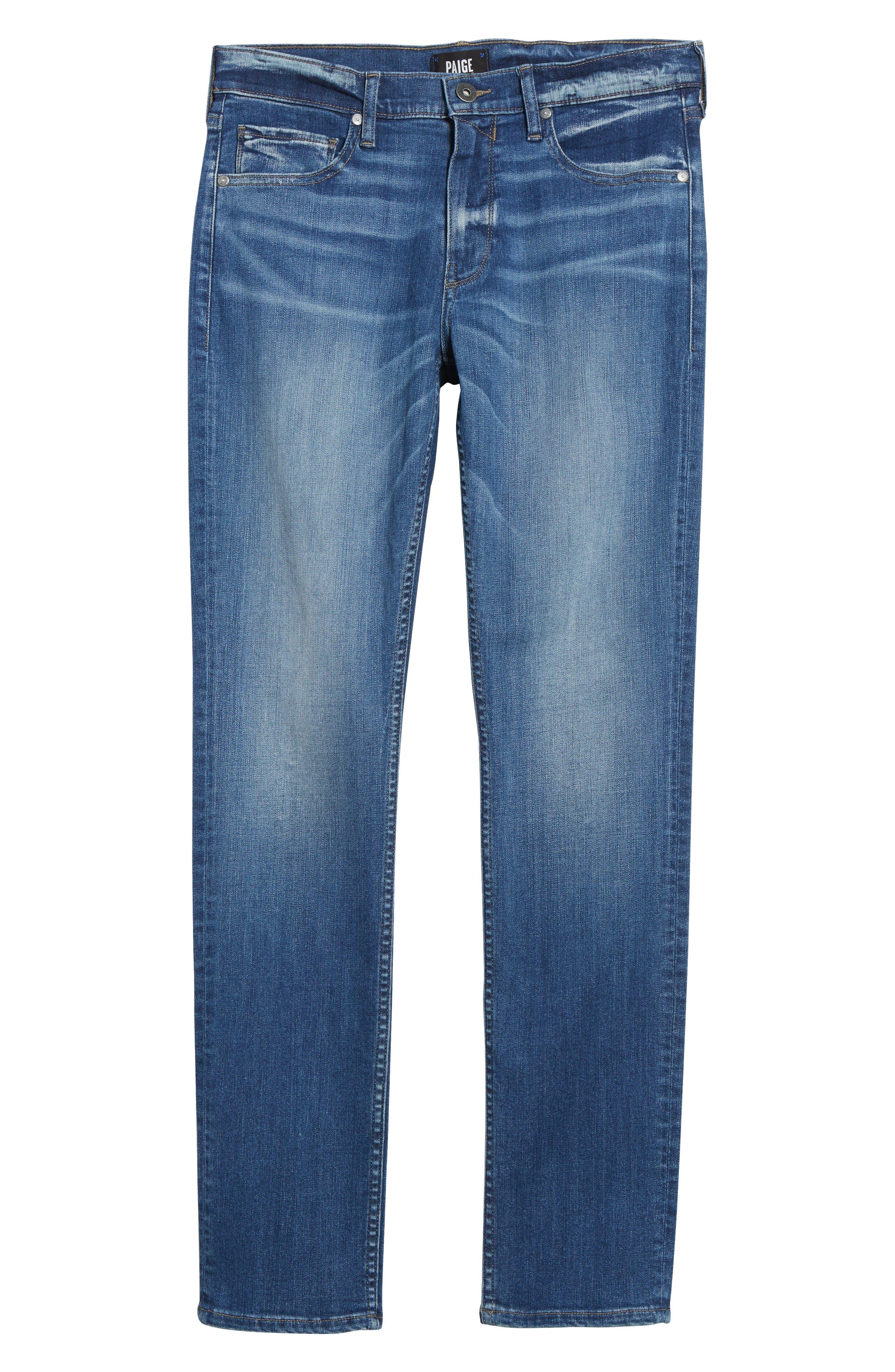 PAIGE, Transcend - Lennox Slim Fit Jeans, Alternate thumbnail 7, color, MULHOLLAND