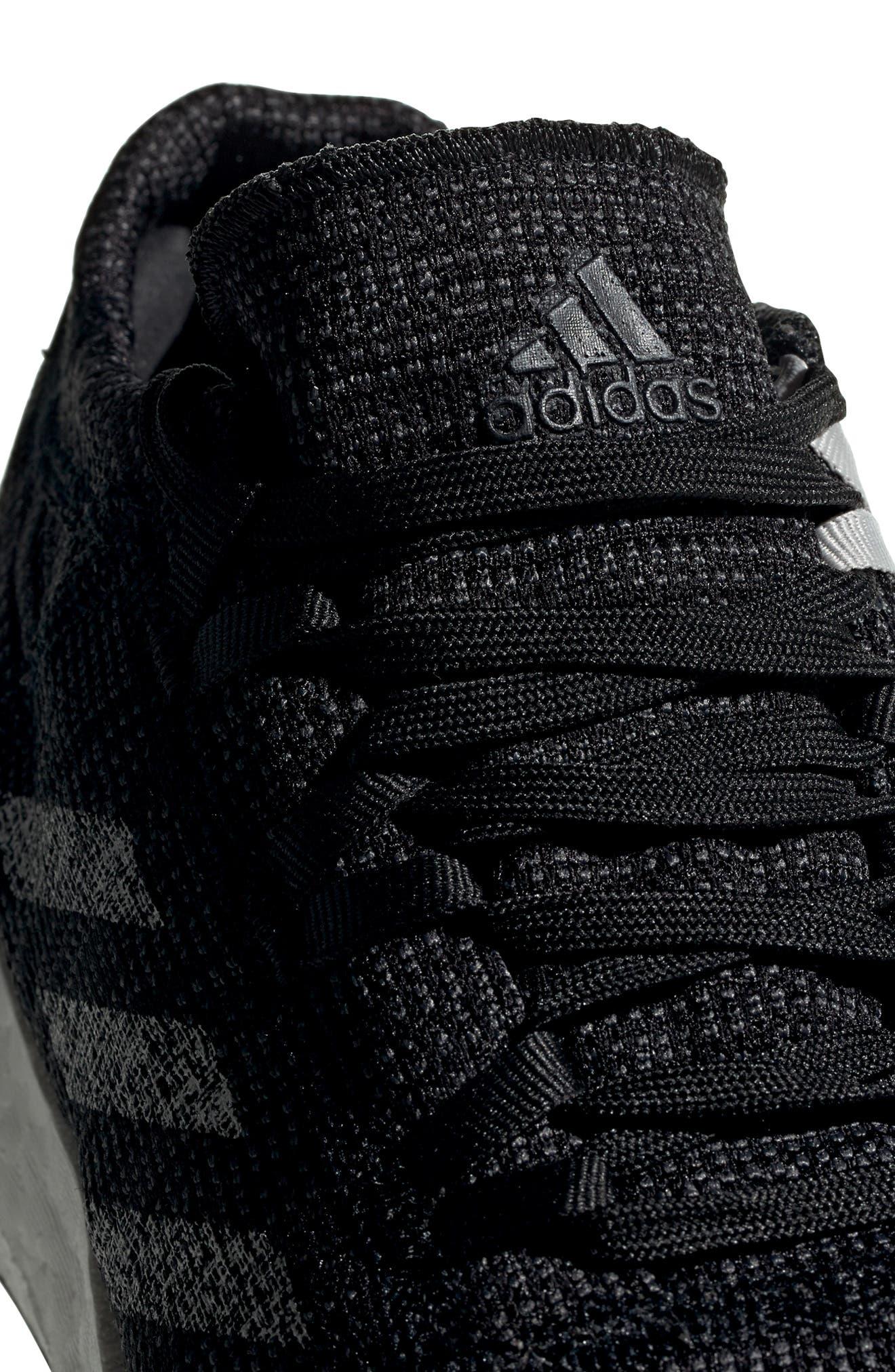 ADIDAS, PureBoost Go Running Shoe, Alternate thumbnail 6, color, CORE BLACK/ GREY