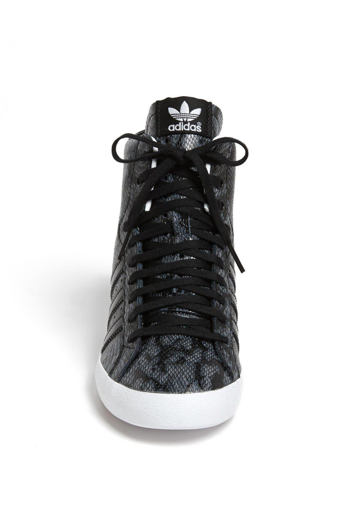 ADIDAS, 'Basket Profi' Hidden Wedge Sneaker, Alternate thumbnail 2, color, 001