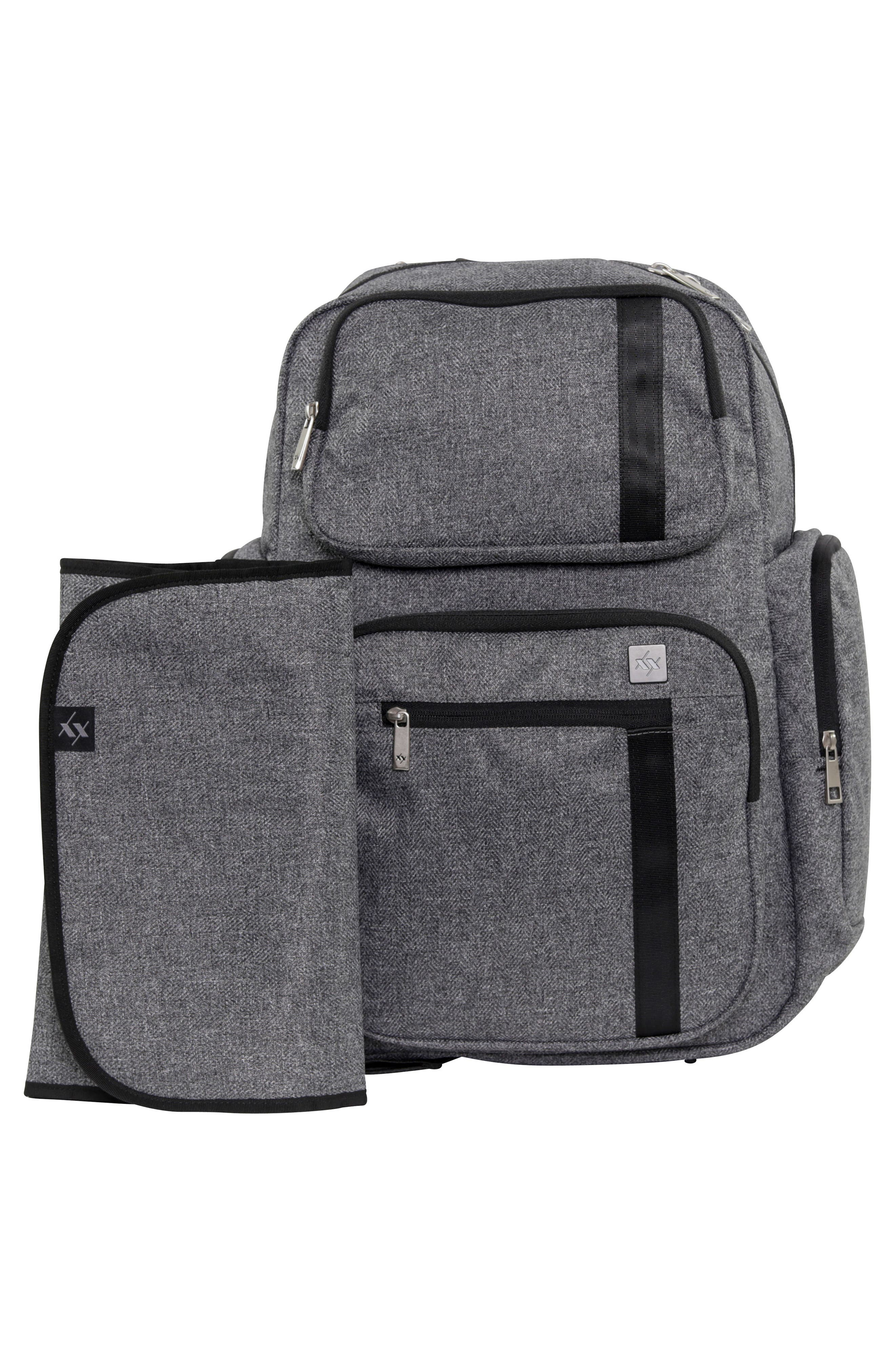 JU-JU-BE, XY Vector Diaper Backpack, Alternate thumbnail 4, color, GRAY MATTER