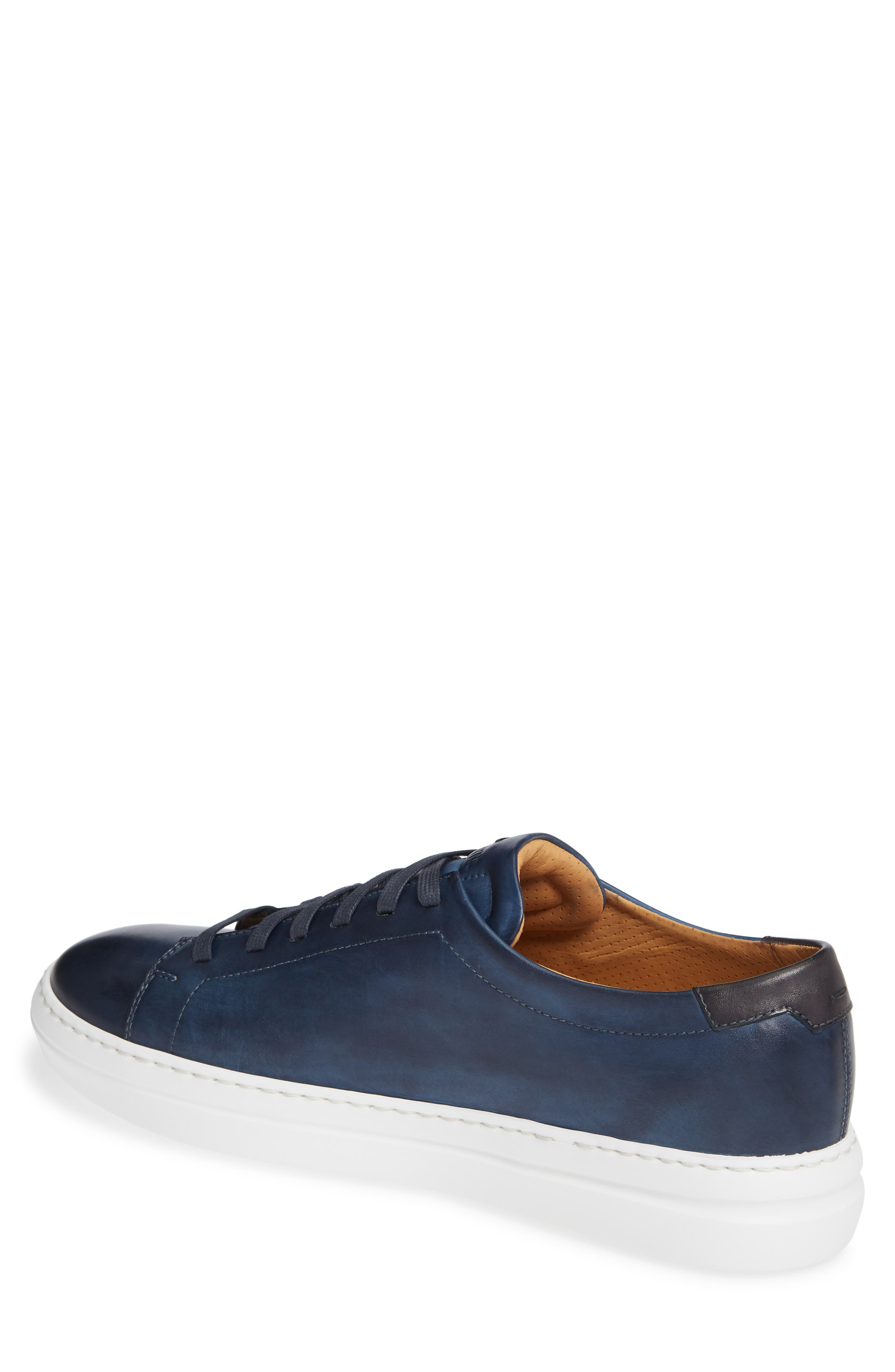 MAGNANNI, Bartolo Sneaker, Alternate thumbnail 2, color, NAVY LEATHER