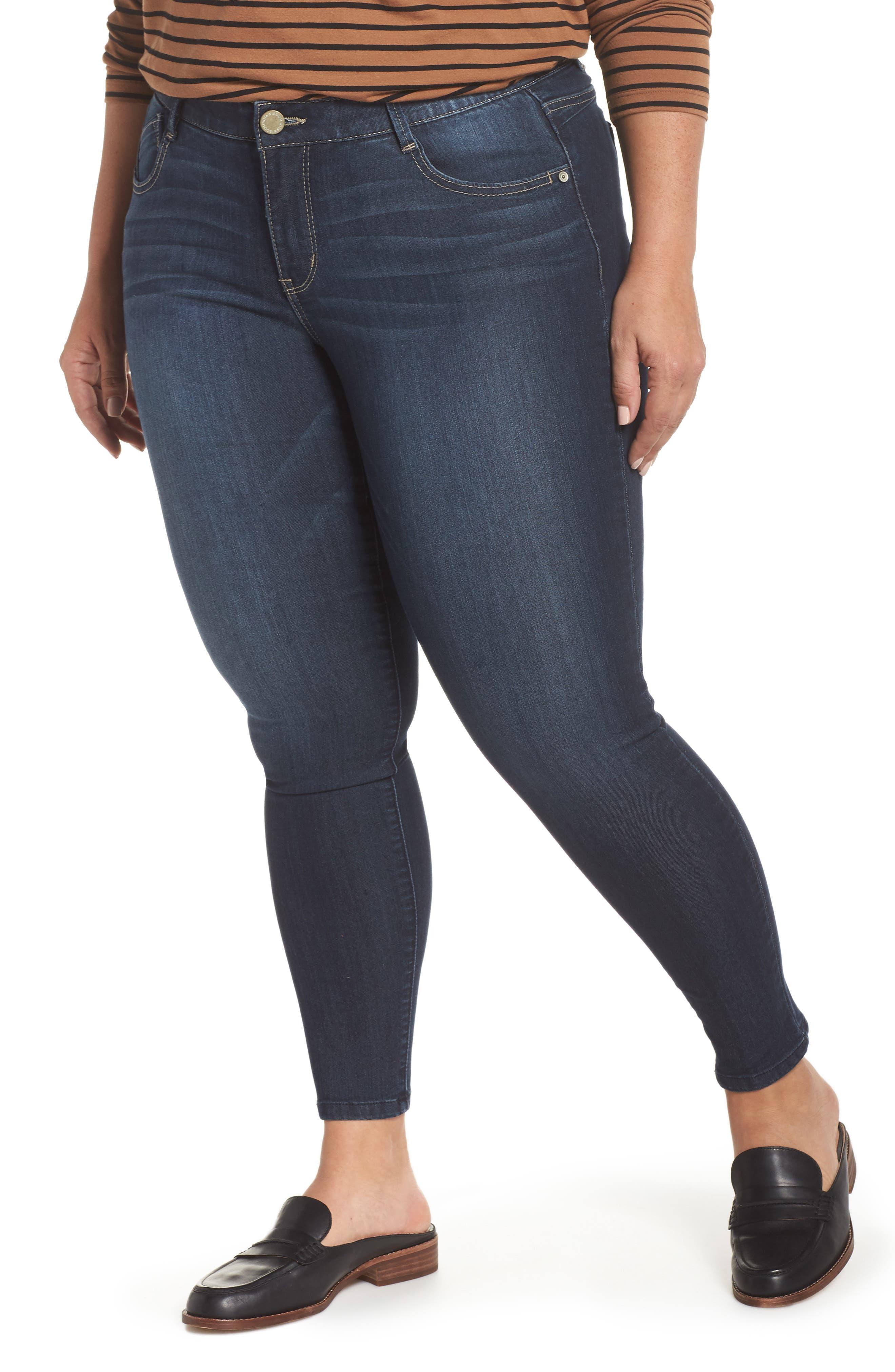 WIT & WISDOM, Ab-solution Stretch Skinny Jeans, Main thumbnail 1, color, INDIGO