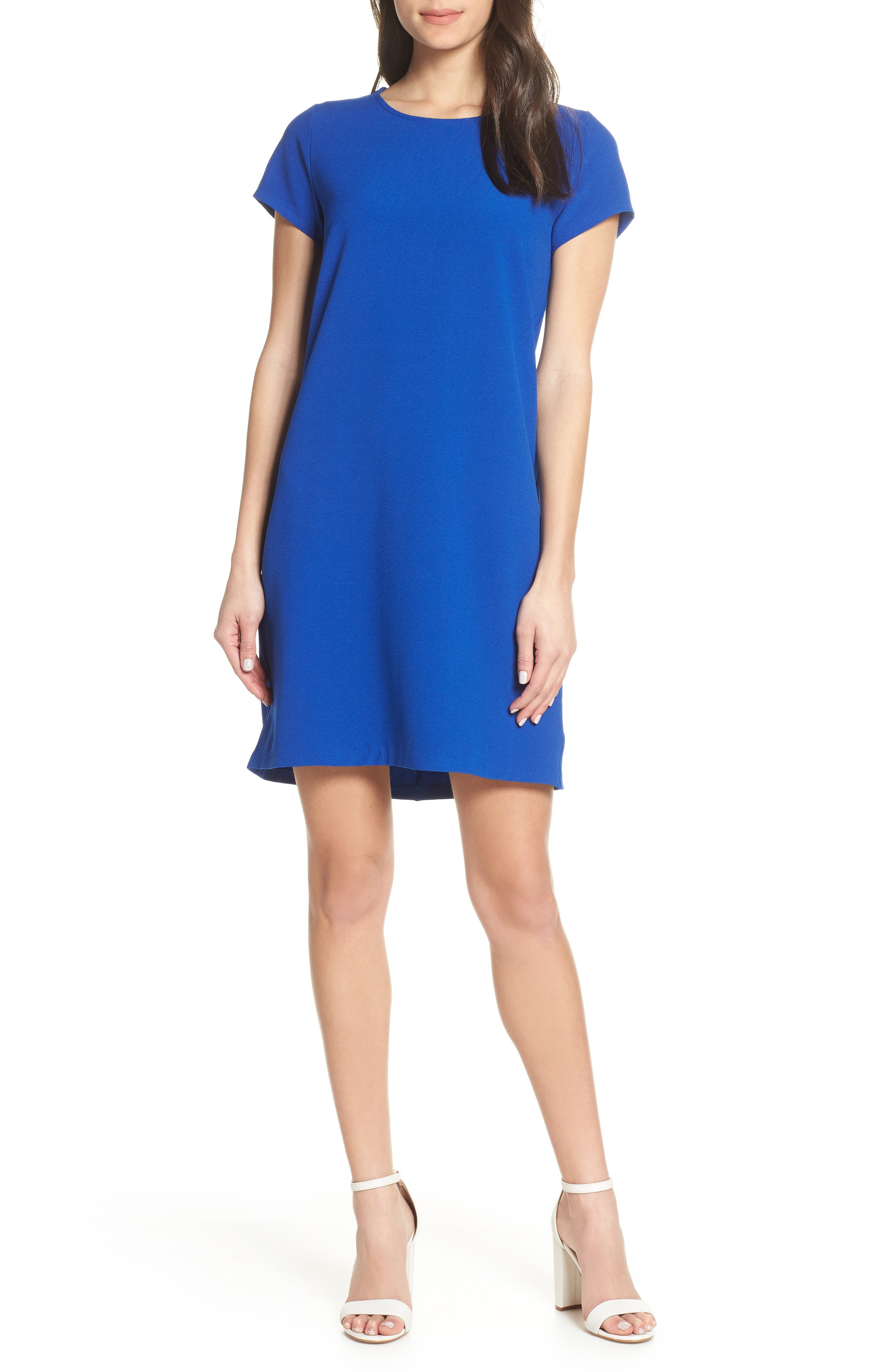 Chelsea28 Crepe Shift Dress, Blue