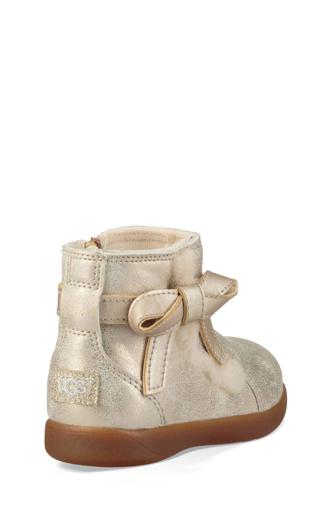 UGG<SUP>®</SUP>, Libbie Metallic Boot, Alternate thumbnail 2, color, GOLD