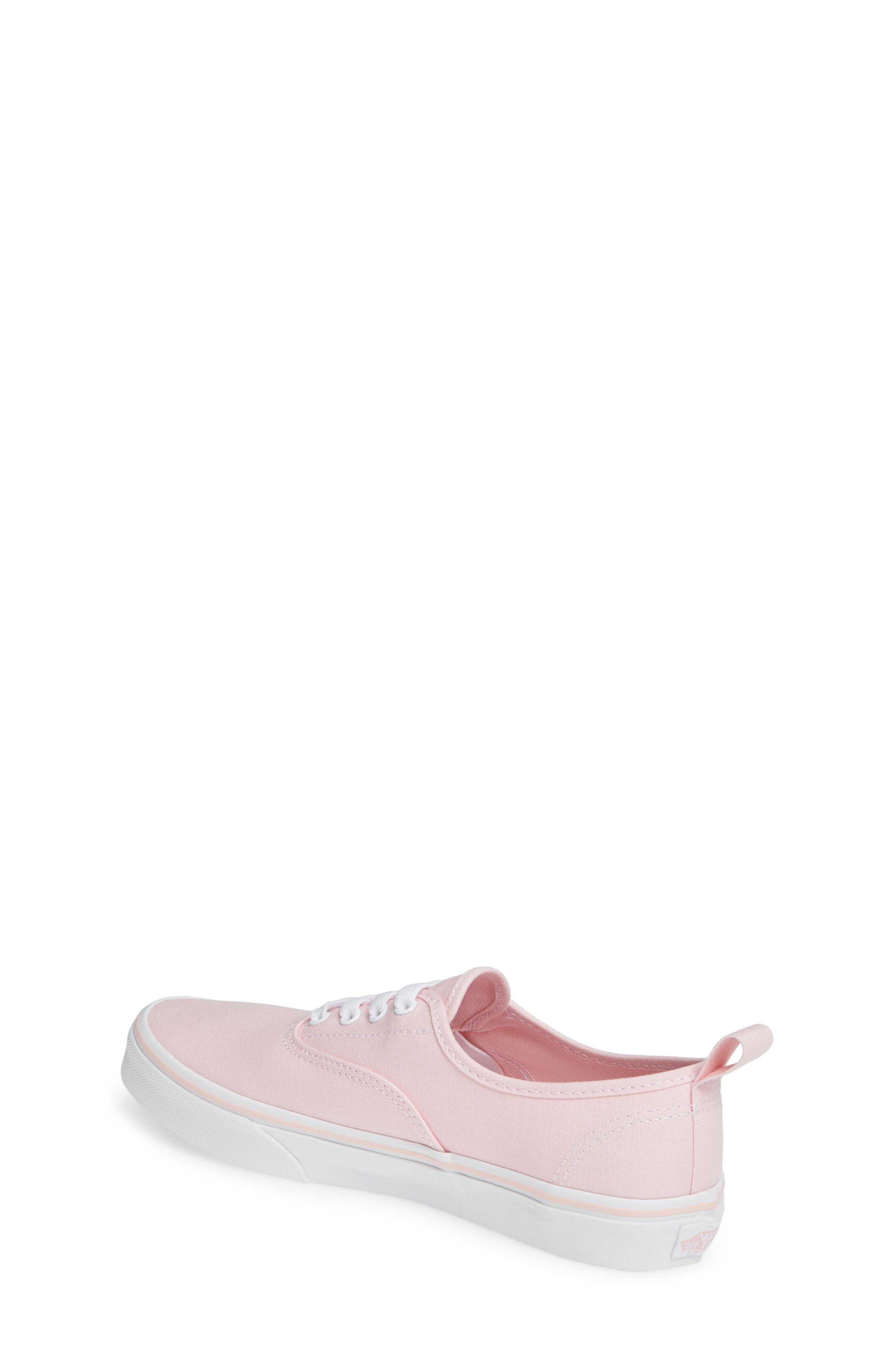 VANS, Authentic Elastic Lace Sneaker, Alternate thumbnail 2, color, CHALK PINK/ TRUE WHITE