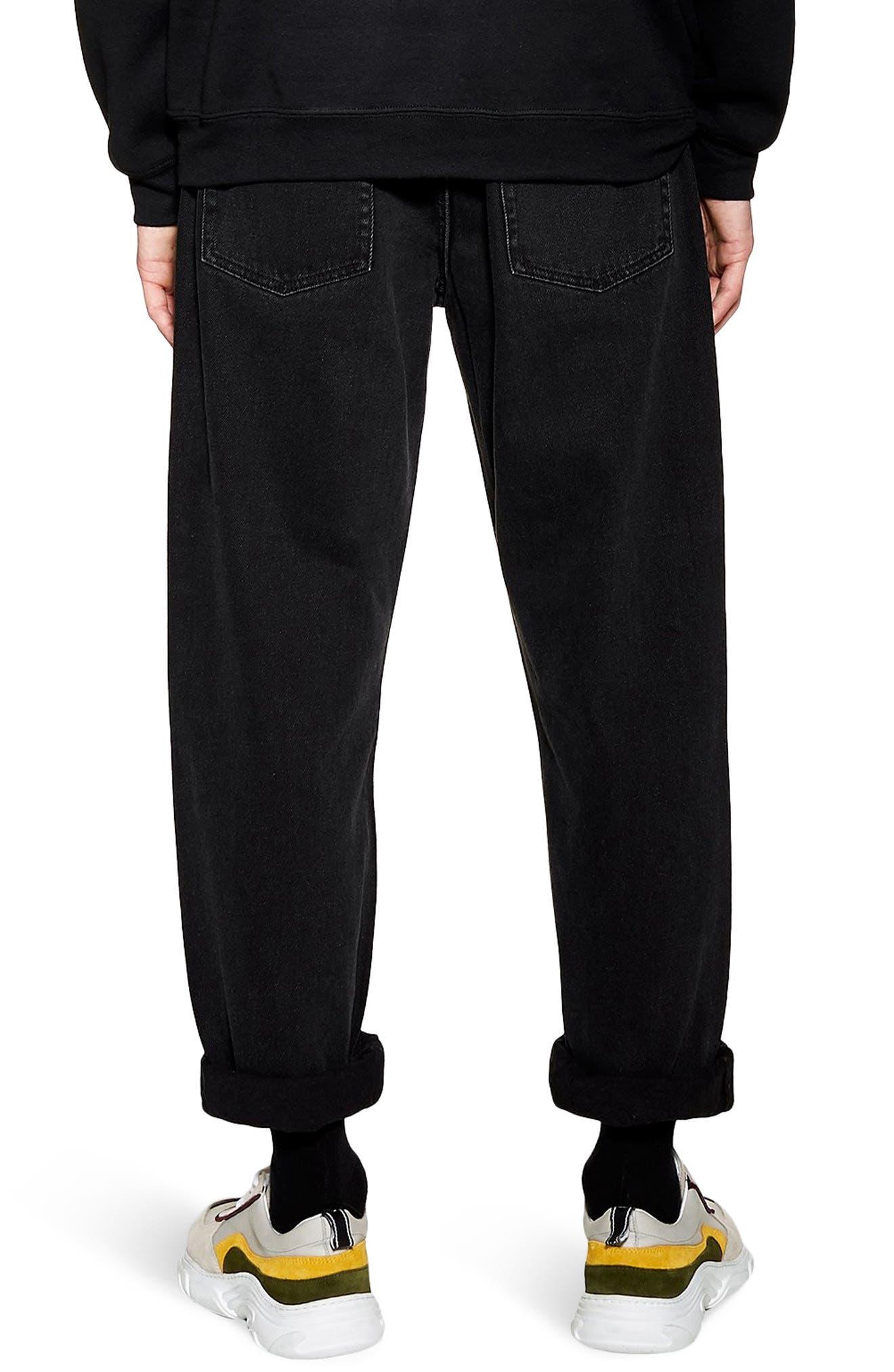 TOPMAN, Larry Original Fit Jeans, Alternate thumbnail 2, color, BLACK