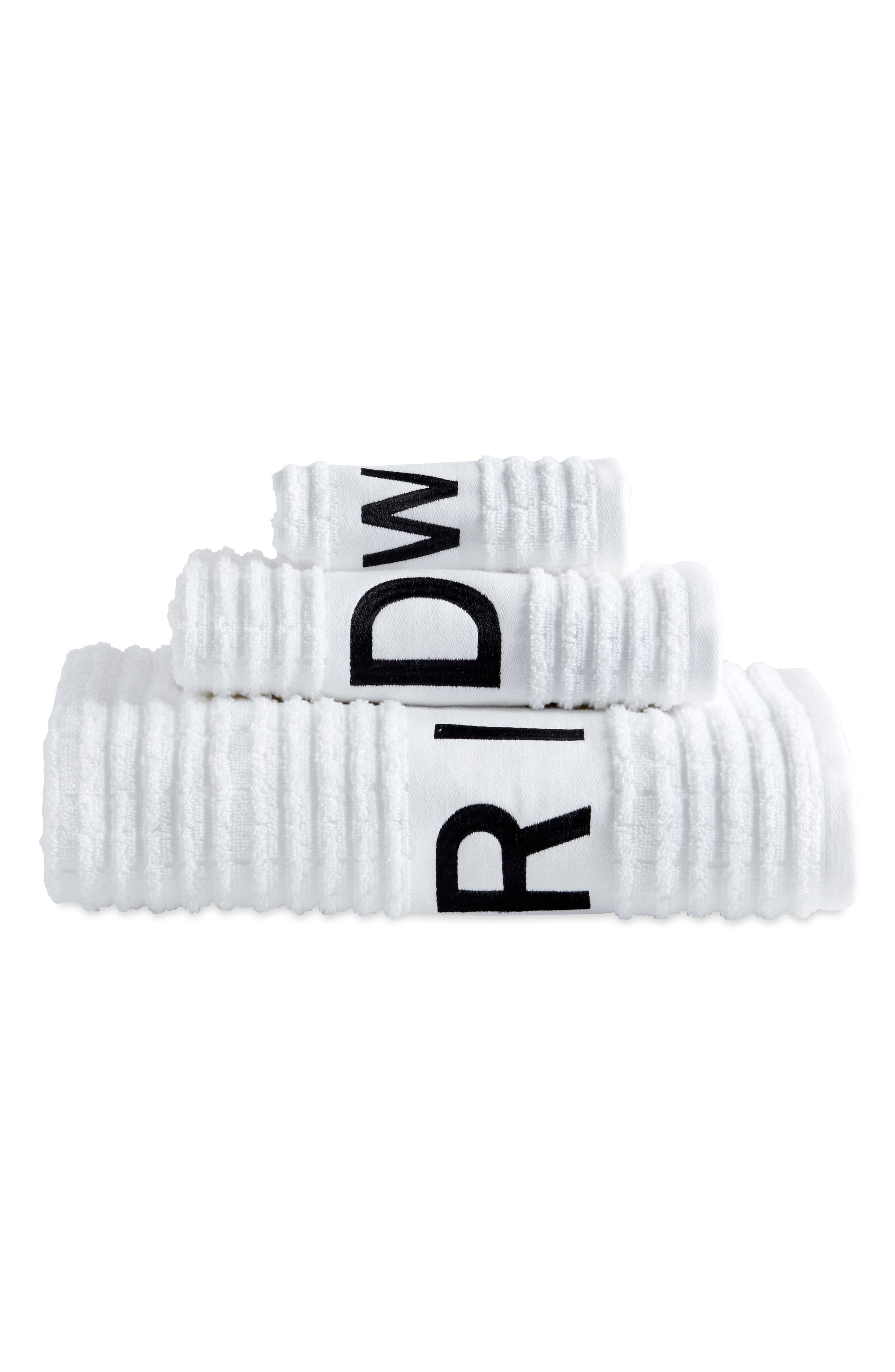 DKNY, Chatter Set of 3 Towels, Alternate thumbnail 4, color, WHITE