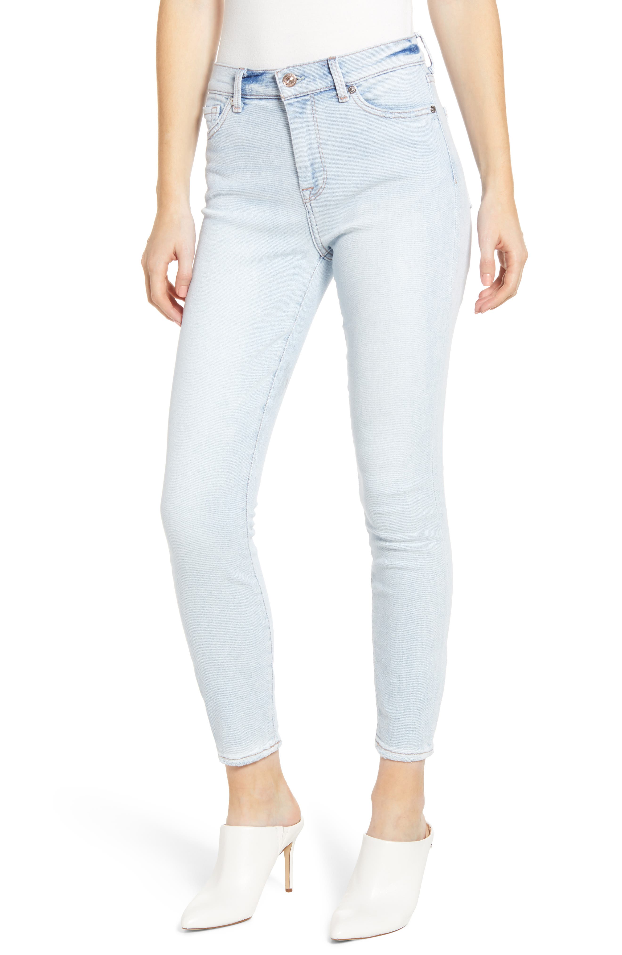 7 FOR ALL MANKIND<SUP>®</SUP>, Luxe Vintage High Waist Ankle Skinny Jeans, Main thumbnail 1, color, LUXE VINTAGE CLOUD