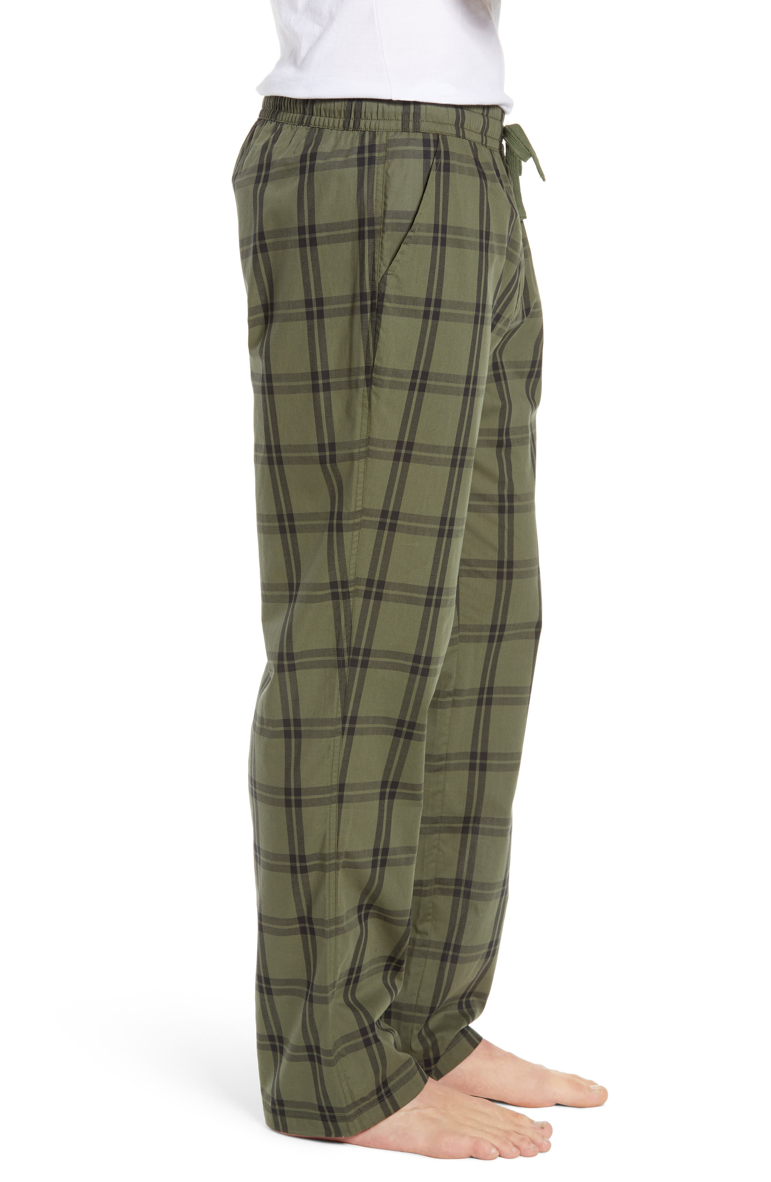 UGG<SUP>®</SUP>, Flynn Pajama Pants, Alternate thumbnail 3, color, CACTUS