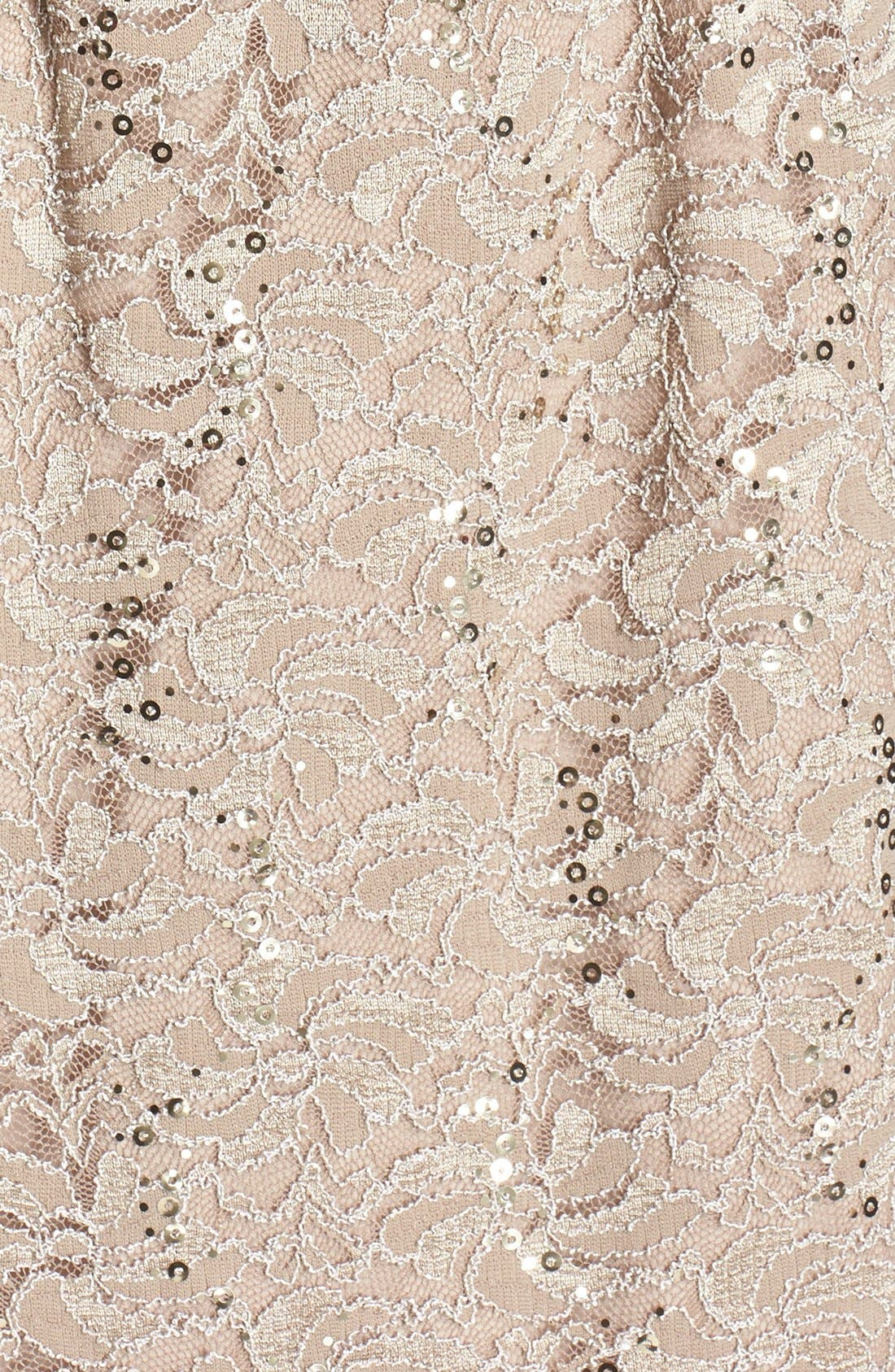 ALEX EVENINGS, Lace Dress & Jacket, Alternate thumbnail 6, color, CHAMPAGNE