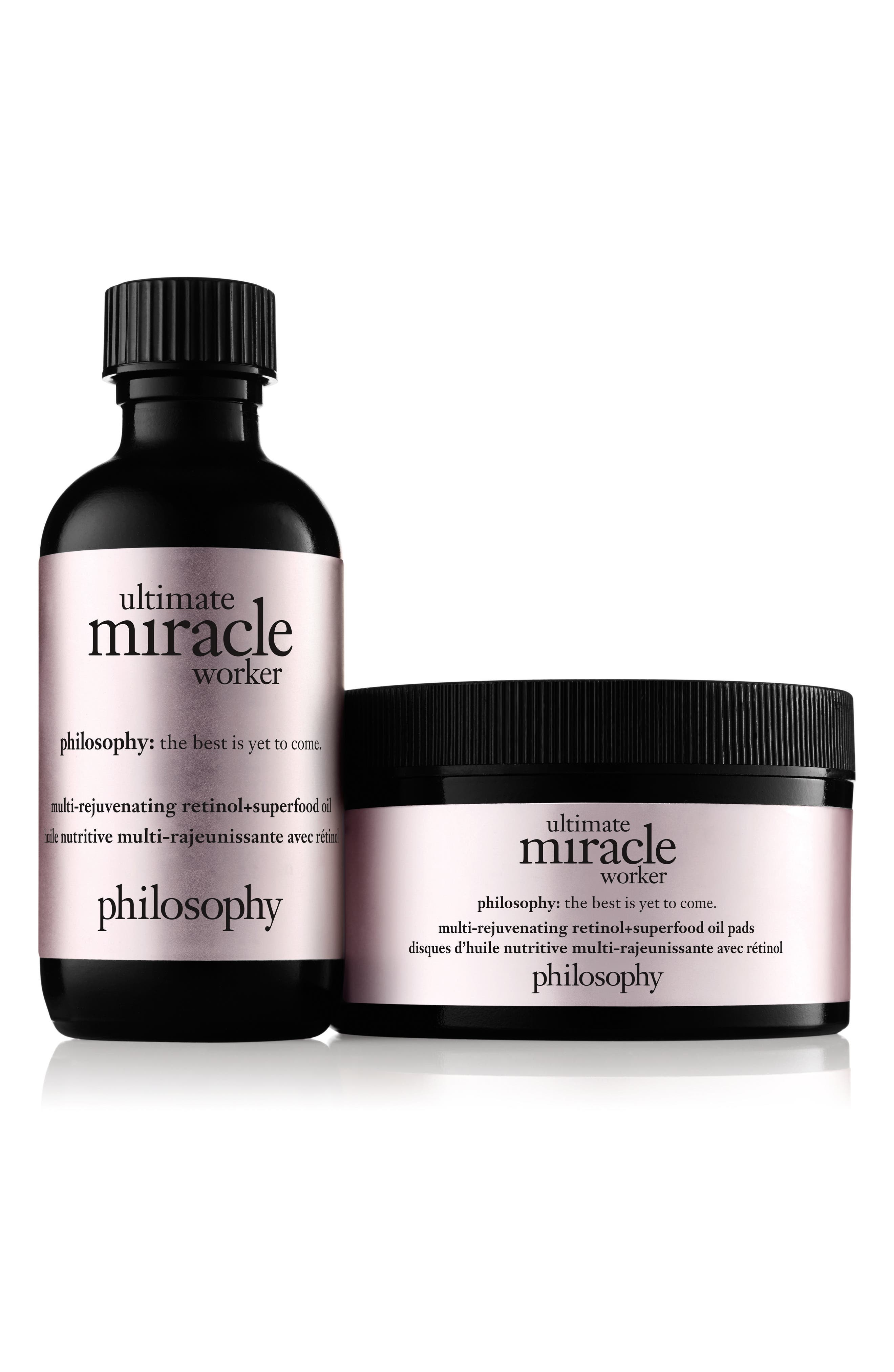 PHILOSOPHY, ultimate miracle worker miraculous anti-aging retinoid solution pads, Main thumbnail 1, color, NO COLOR