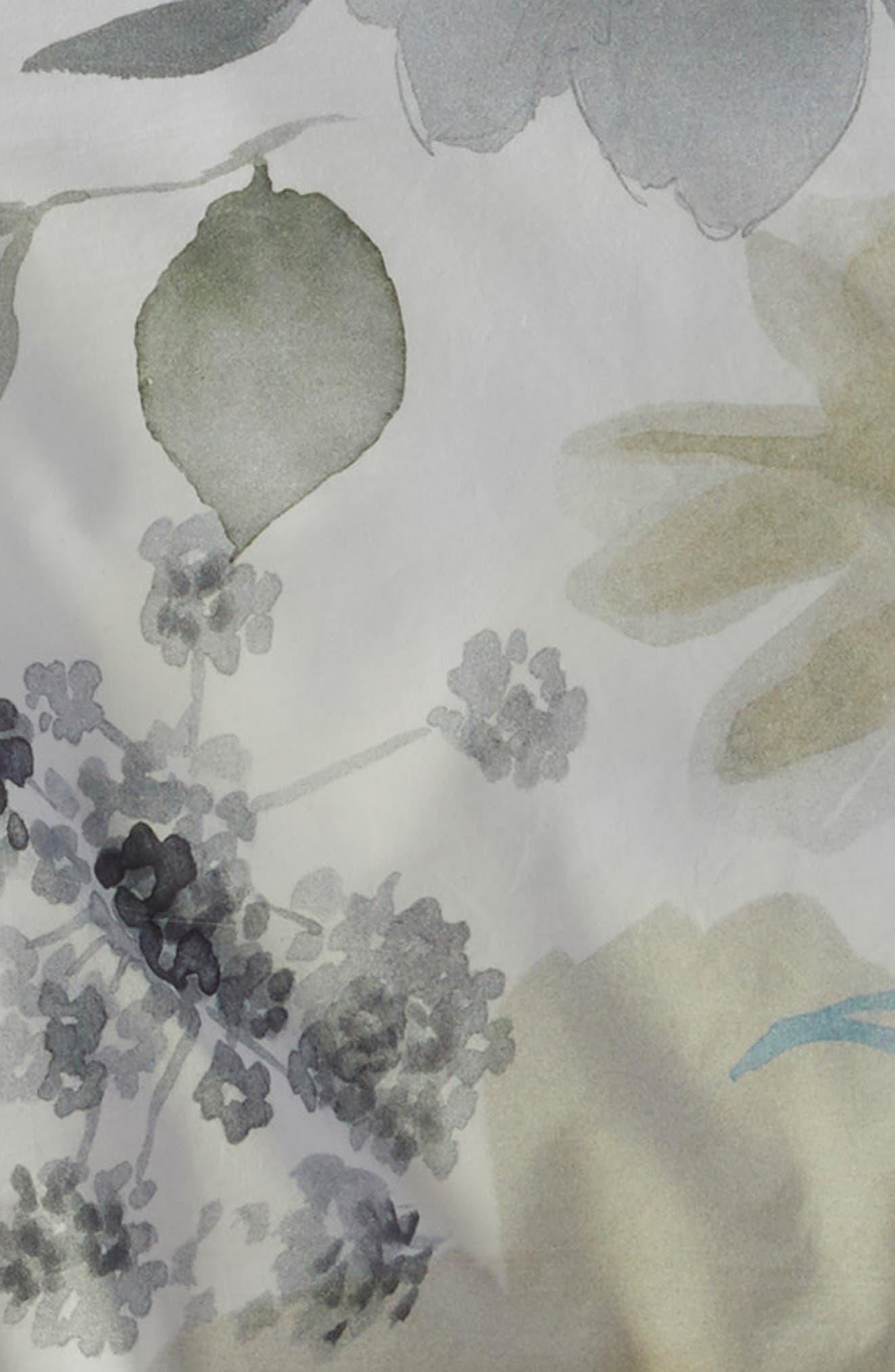 LEVTEX, Fairbourne 300 Thread Count Cotton Percale Duvet Cover, Alternate thumbnail 3, color, MULTI
