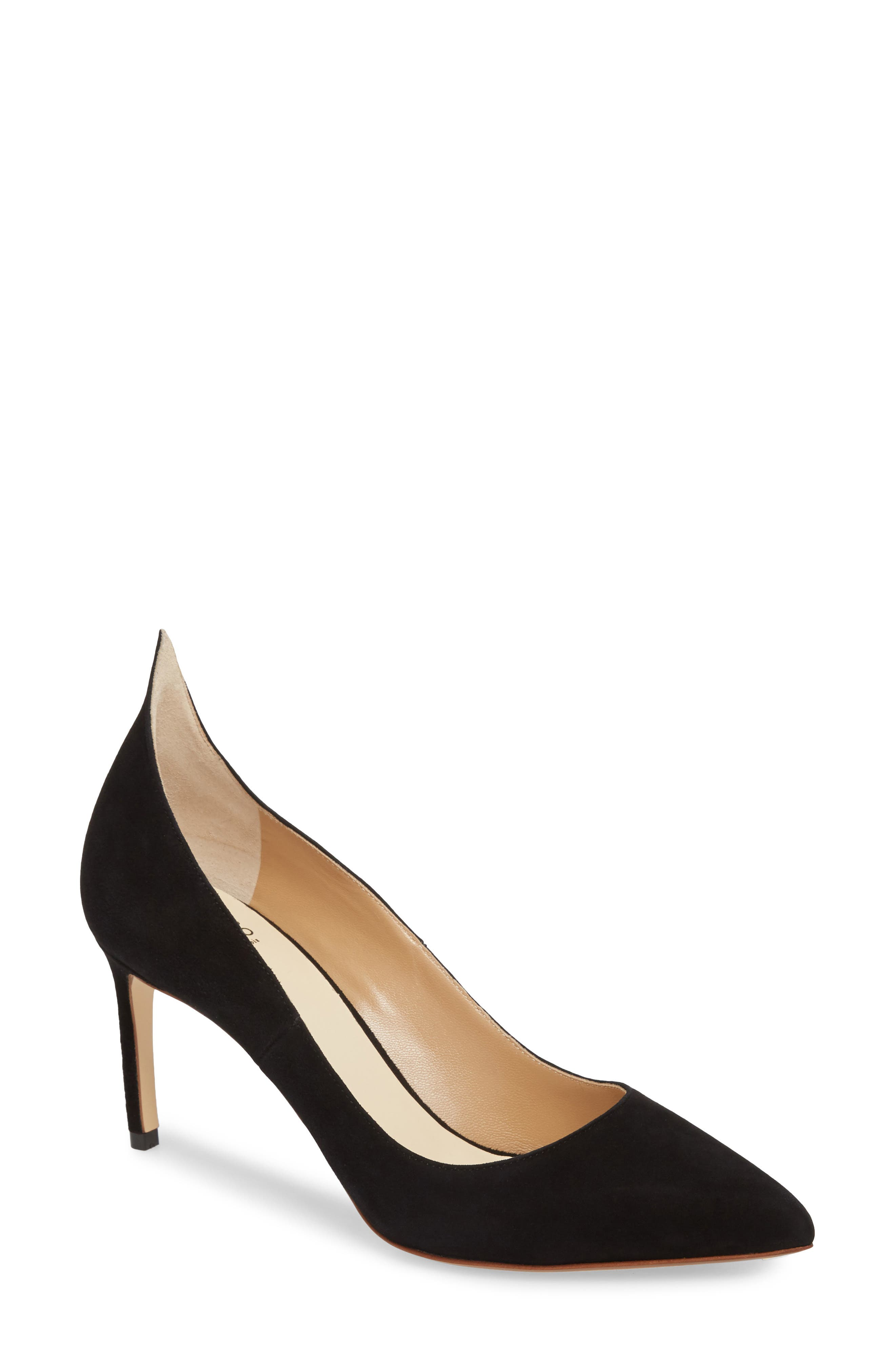 FRANCESCO RUSSO, Flame Pointy Toe Pump, Main thumbnail 1, color, BLACK